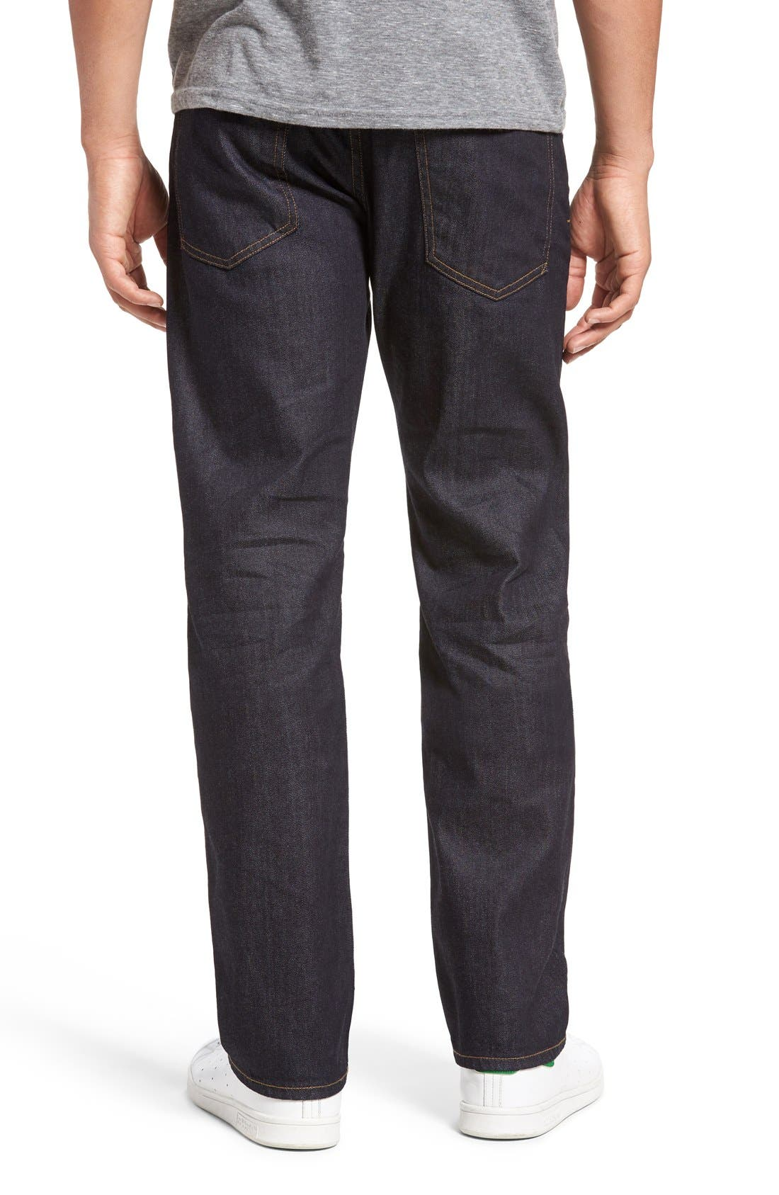 Core Slim Straight Leg Jeans,                             Alternate thumbnail 3, color,