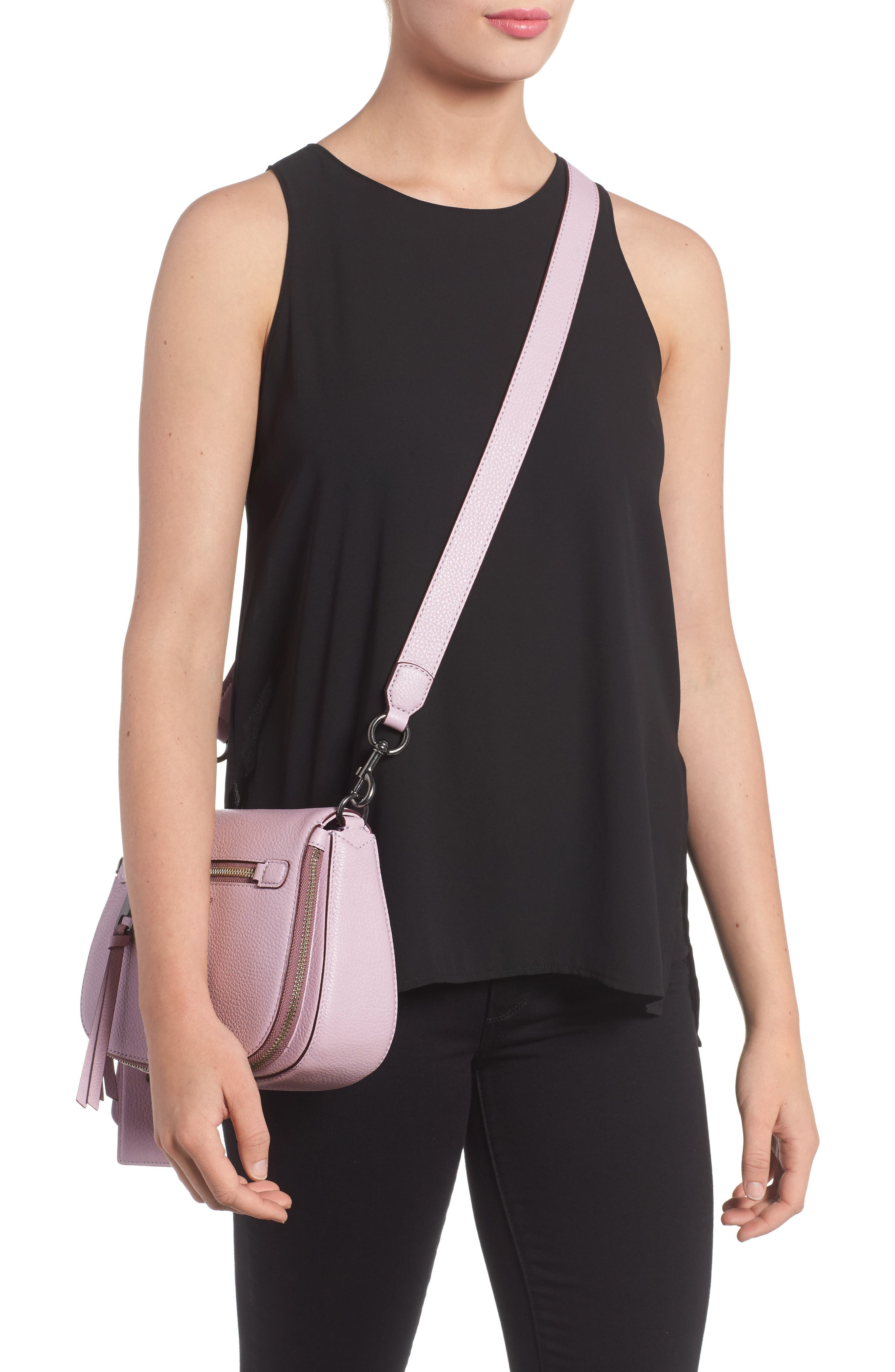 Small Recruit Nomad Pebbled Leather Crossbody Bag,                             Alternate thumbnail 25, color,