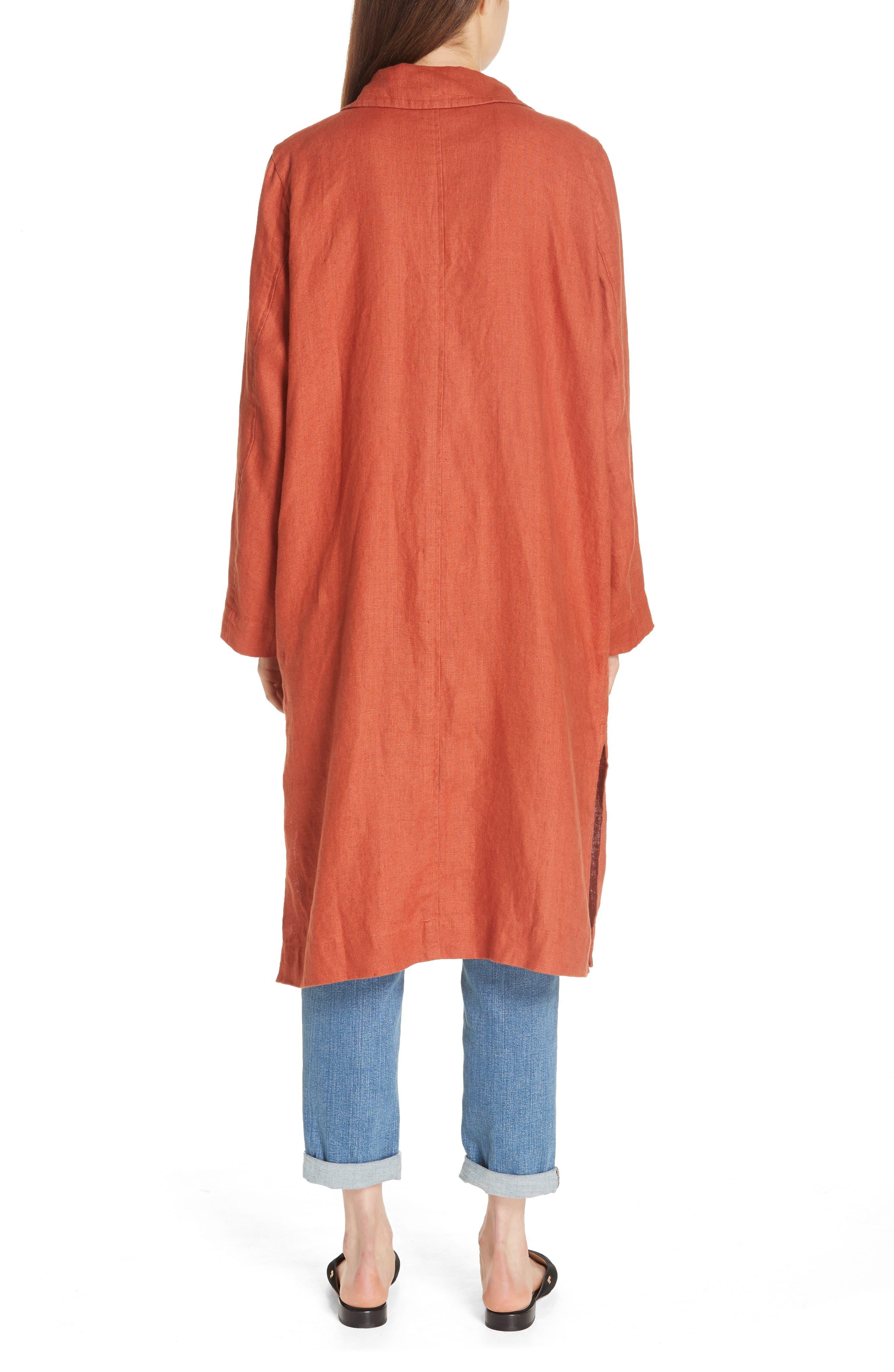 Organic Linen Trench Coat,                             Alternate thumbnail 2, color,                             822