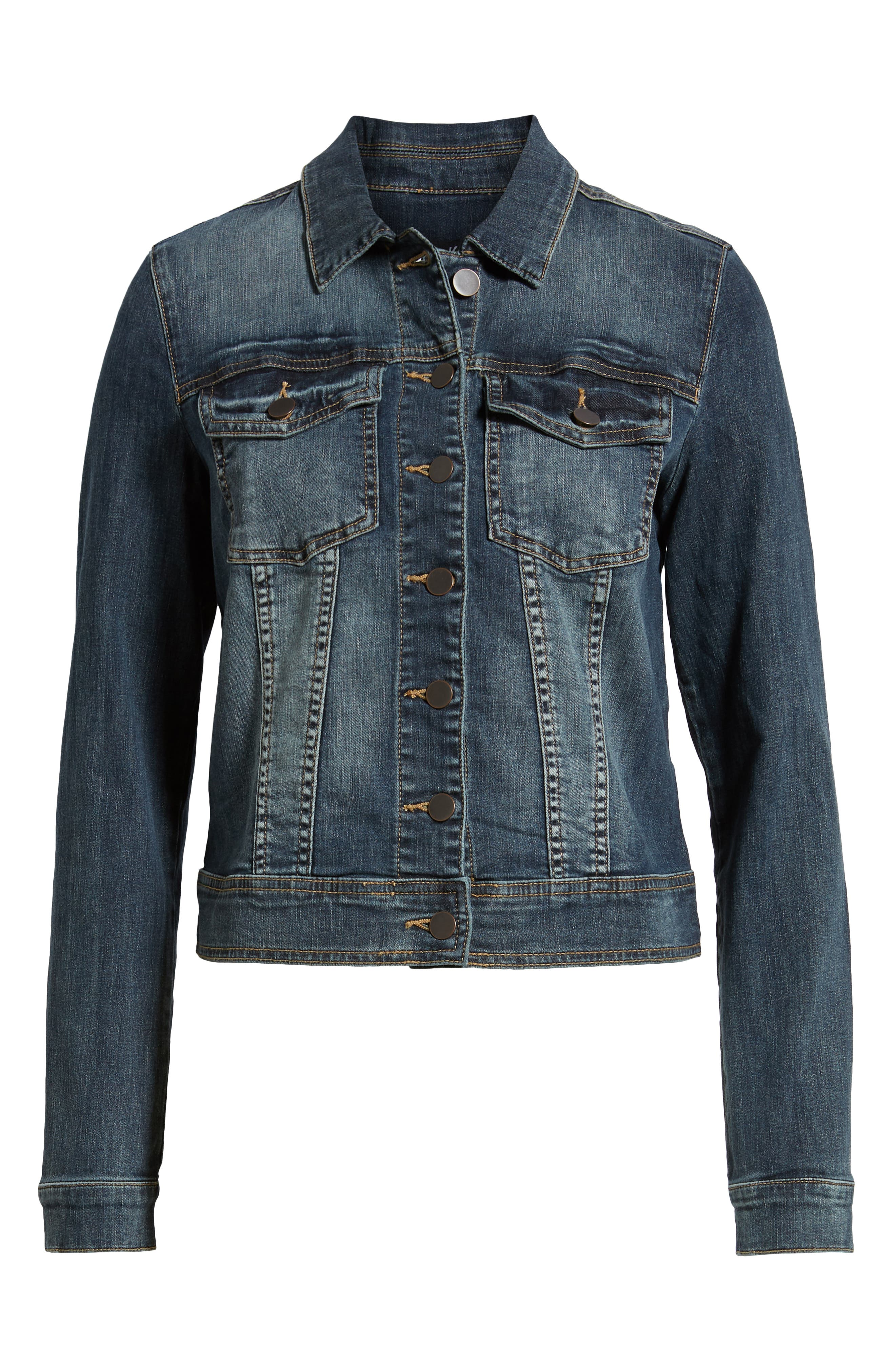 Helena Denim Jacket,                             Alternate thumbnail 6, color,                             477