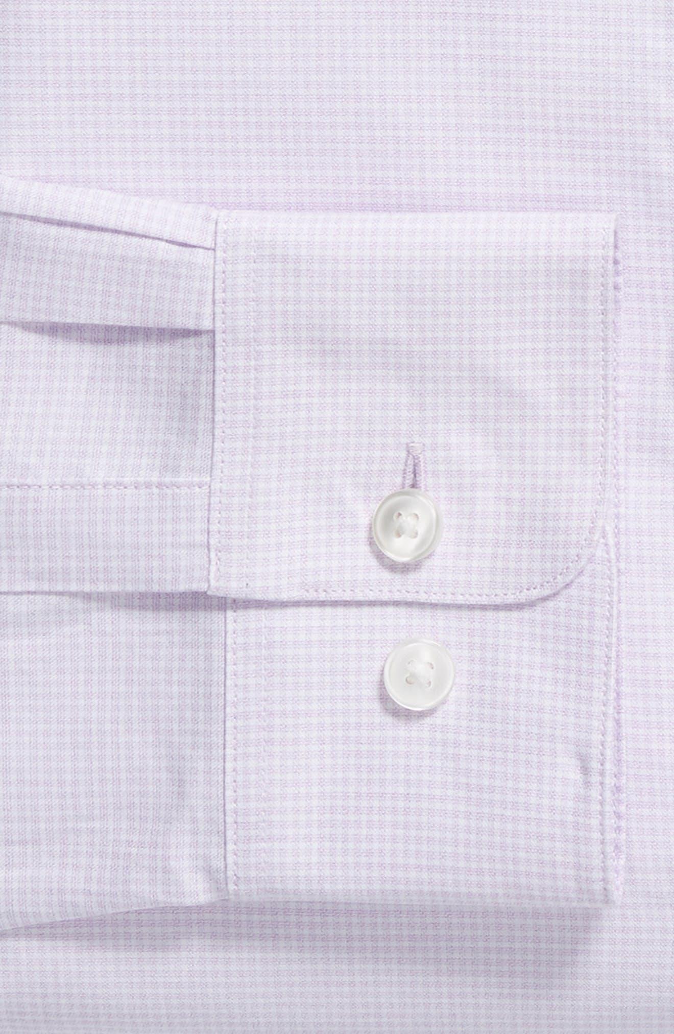 Slim Fit Check Dress Shirt,                             Alternate thumbnail 6, color,                             PINK HAZE