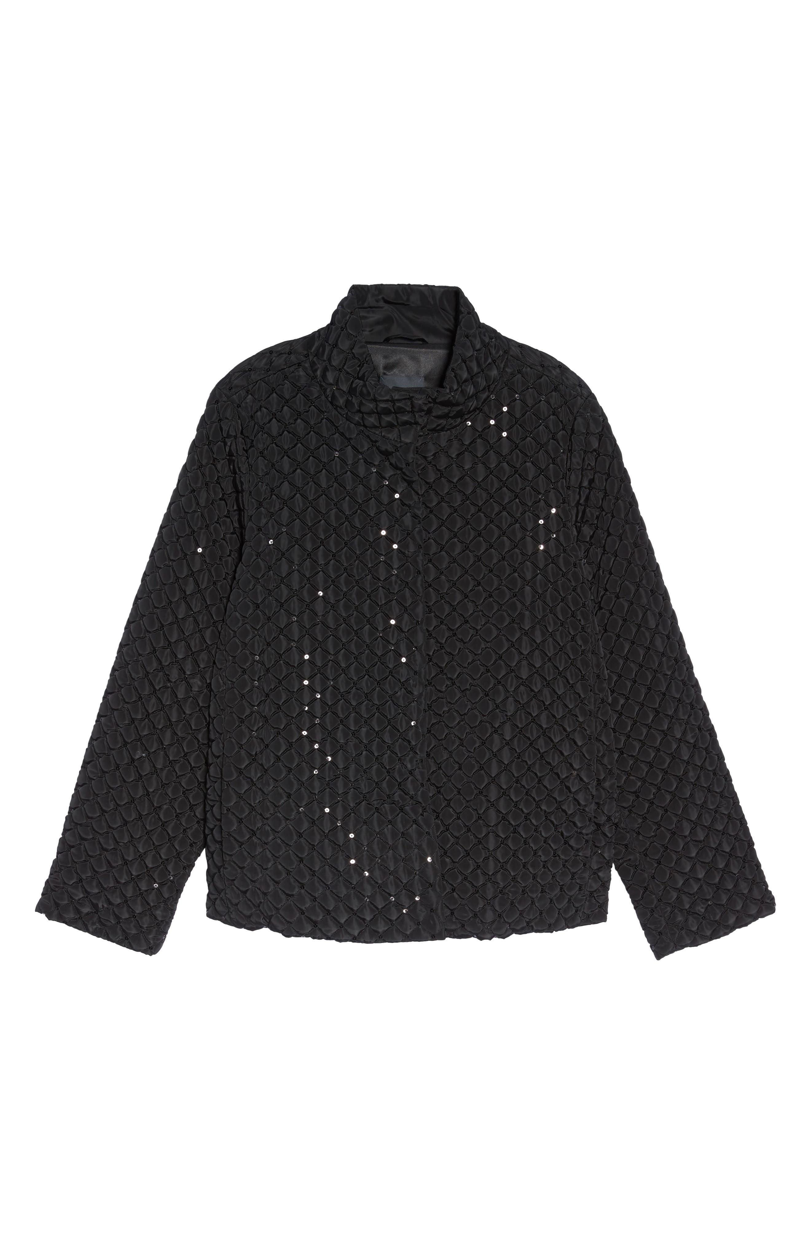 Papaia Sequin Jacket,                             Alternate thumbnail 5, color,                             001