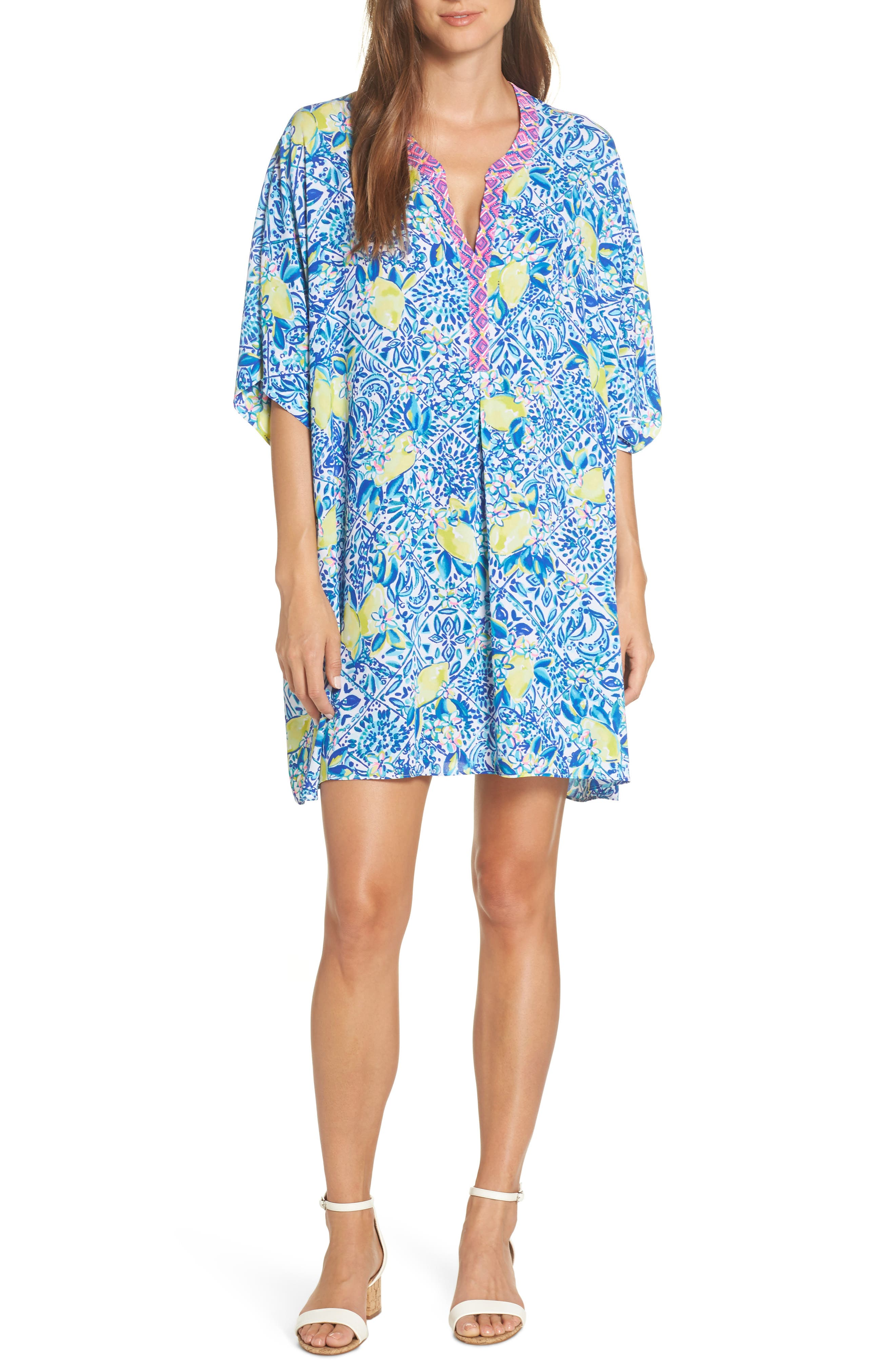 Lilly Pulitzer Leland Cover-Up Dress, Blue