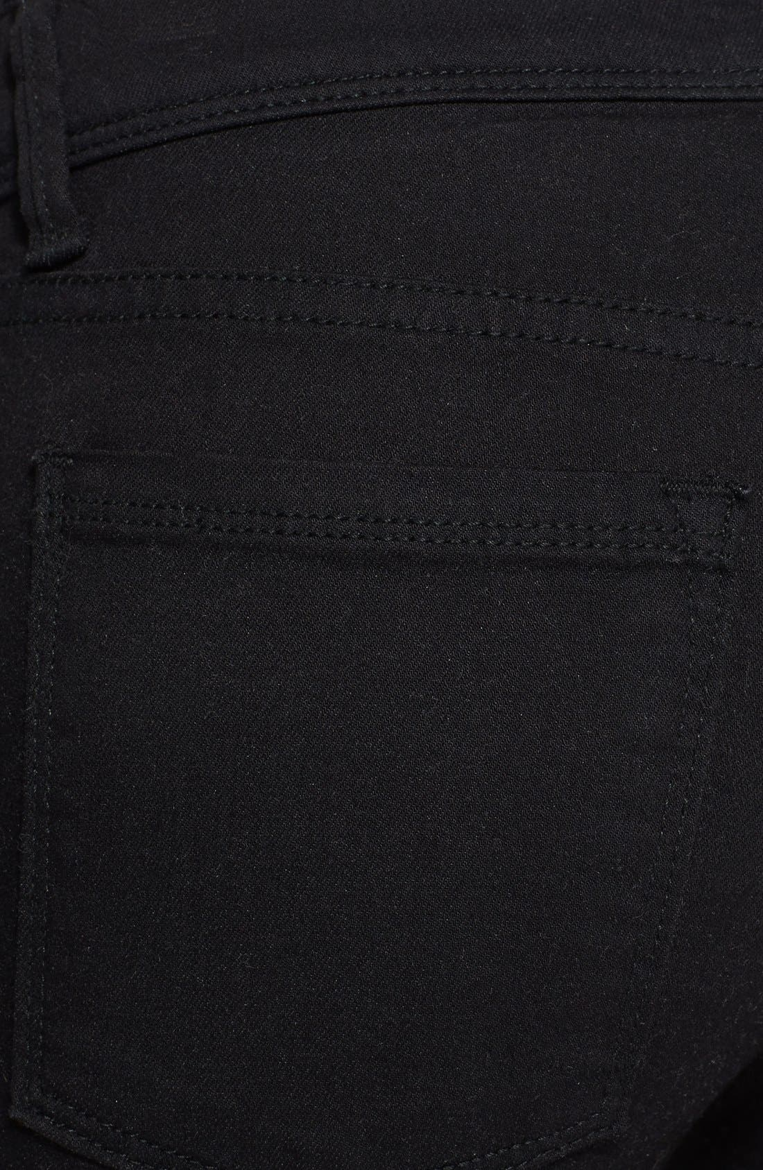 'Roller' Crop Skinny Jeans,                             Alternate thumbnail 2, color,                             001