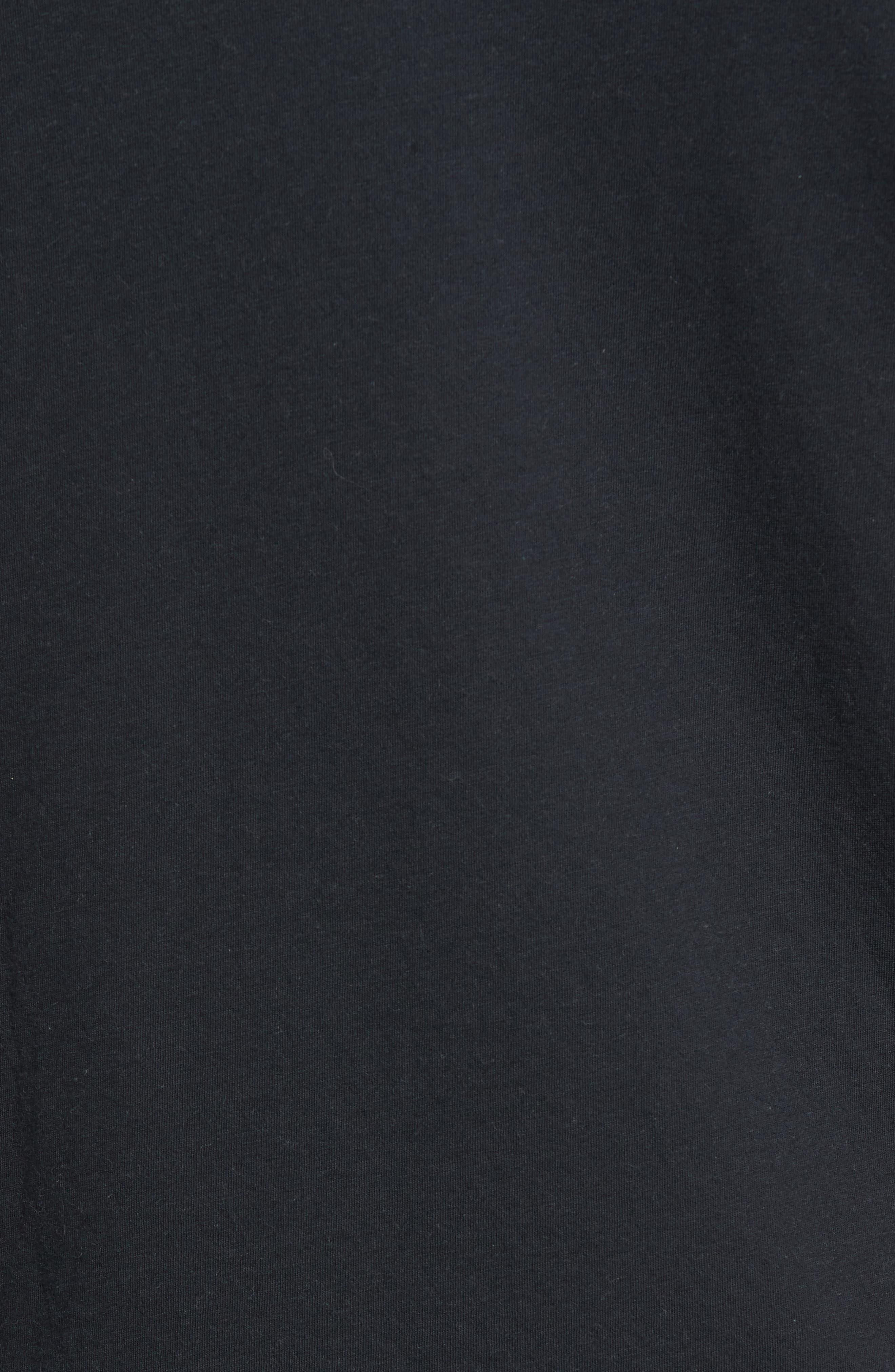 Tech Regular Fit Fleece Hoodie,                             Alternate thumbnail 5, color,                             BLACK/ CARBON HEATHER