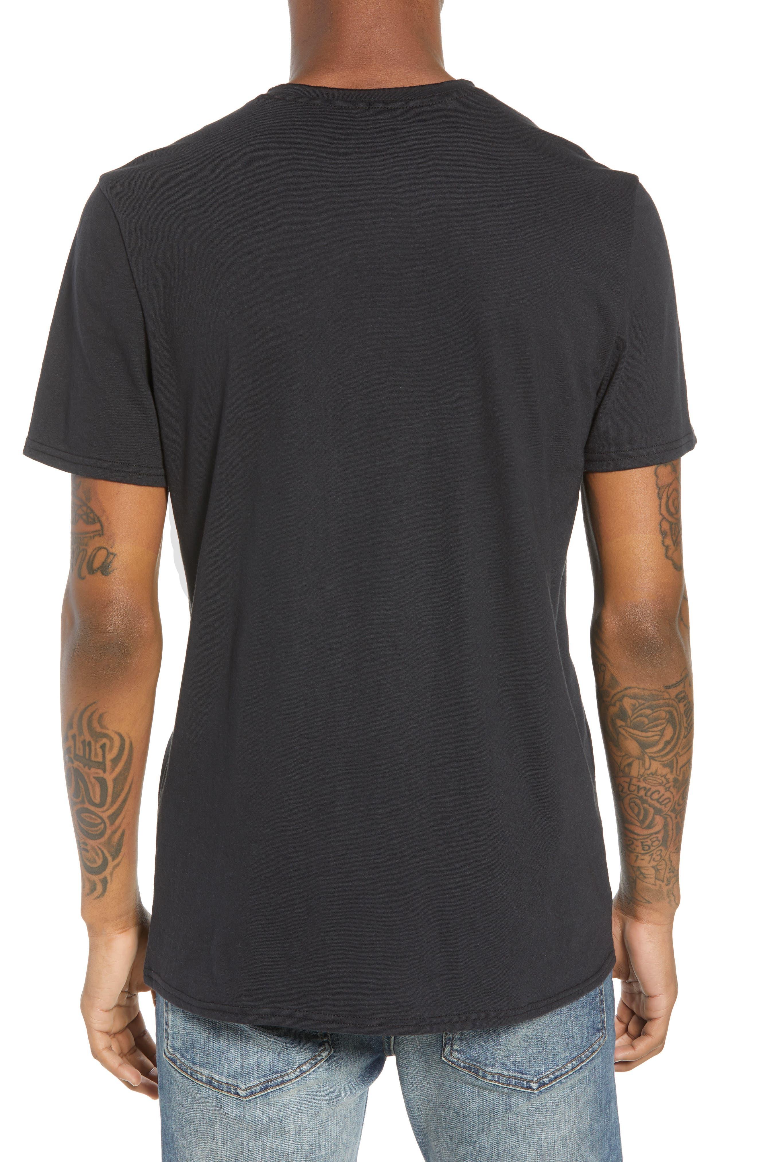 Tri-Splice T-Shirt,                             Alternate thumbnail 2, color,                             BLACK NAVY SKI SPLICE
