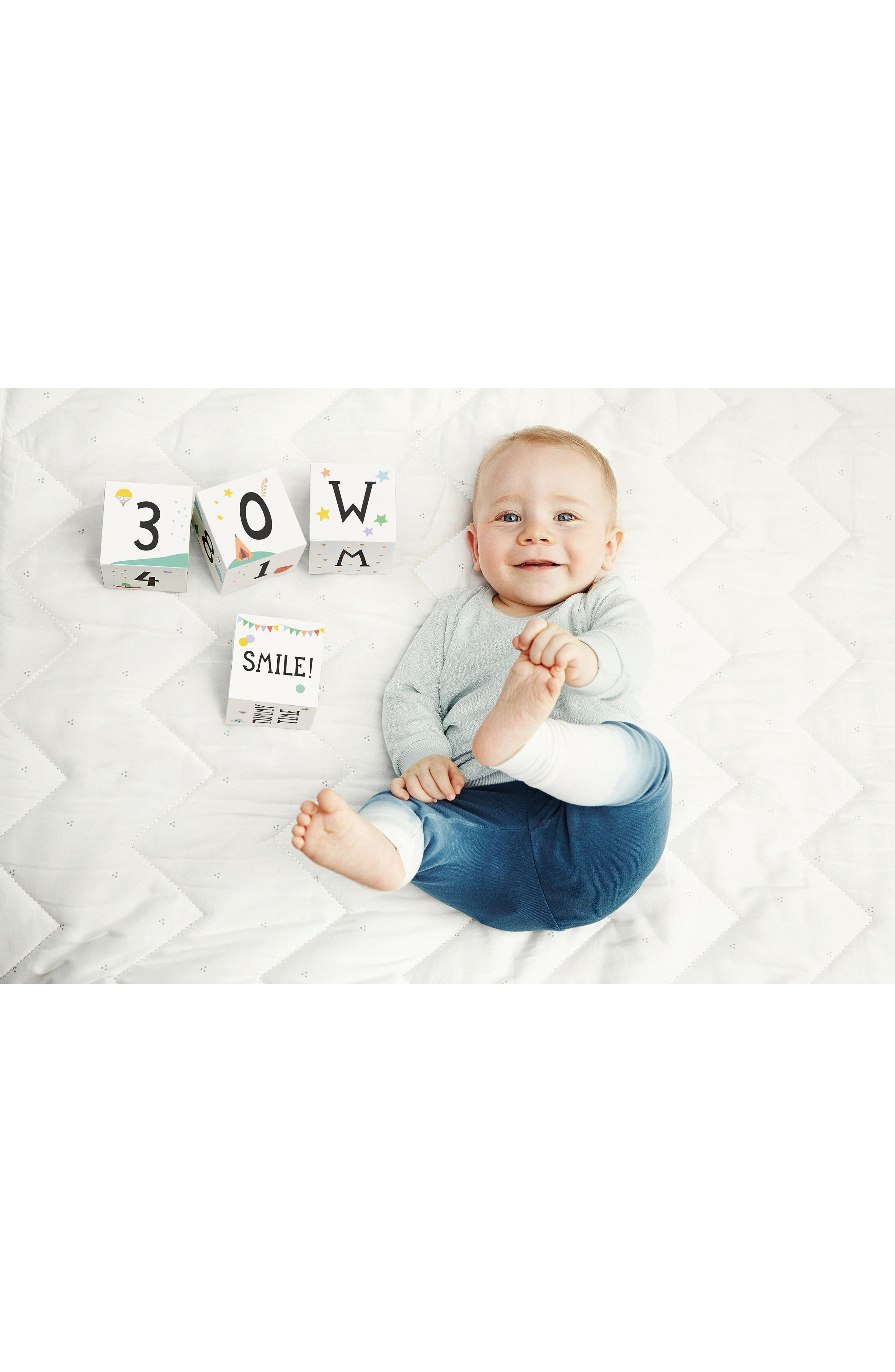 Milestone Baby Age + Moments Blocks,                             Alternate thumbnail 5, color,                             OFF WHITE
