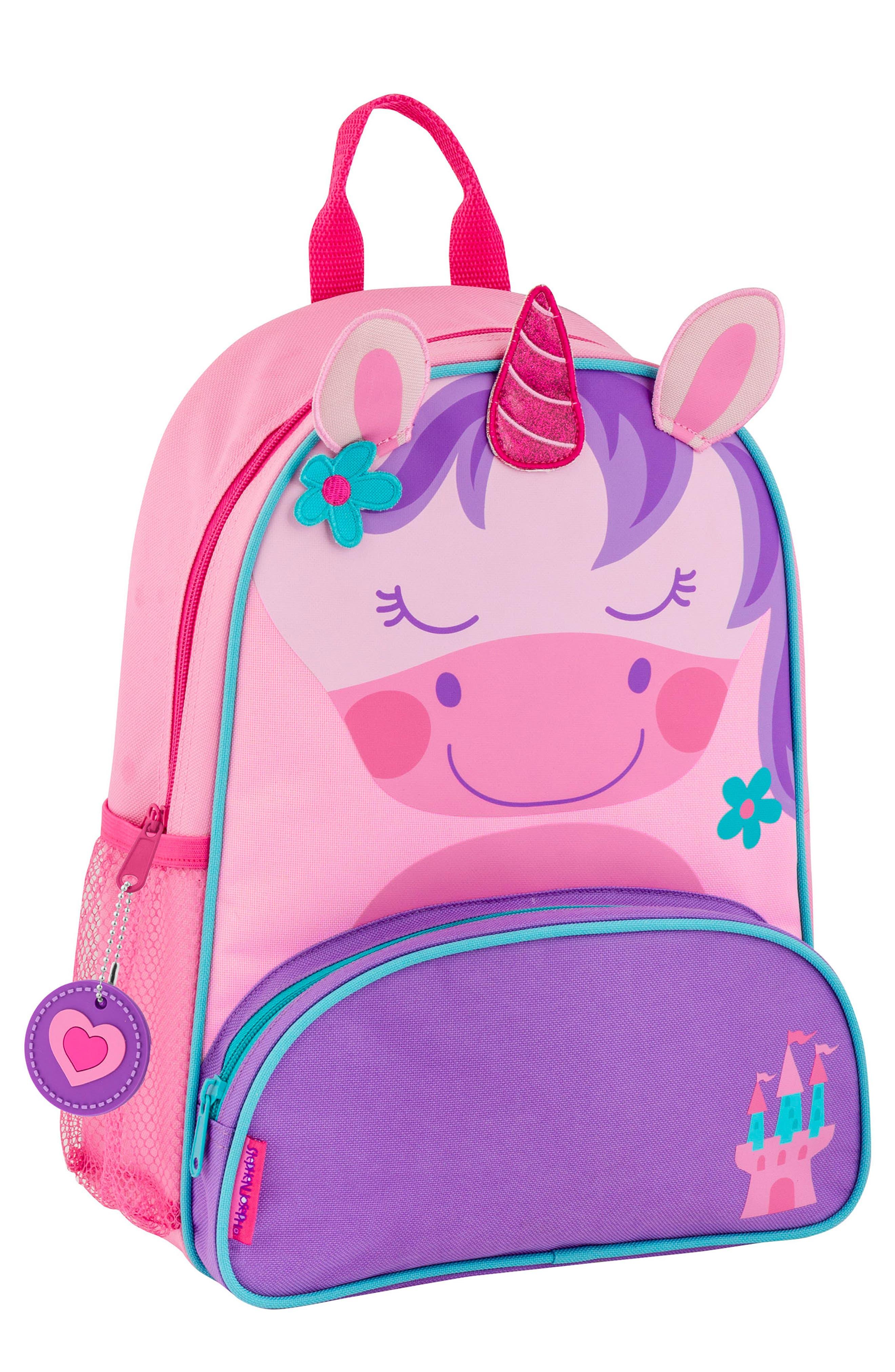 Girls Stephen Joseph Unicorn Sidekick Backpack  Lunch Pail  Purple
