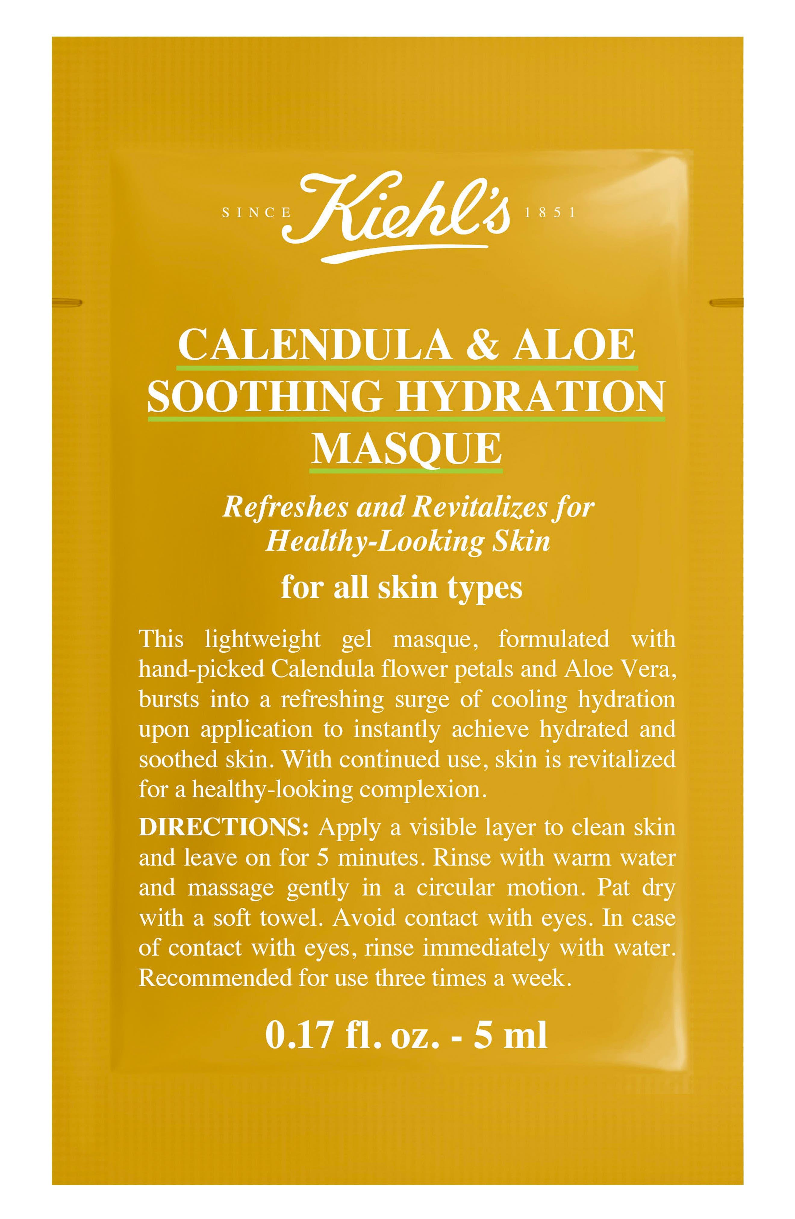 Calendula & Aloe Soothing Hydration Masque,                             Alternate thumbnail 2, color,                             NO COLOR