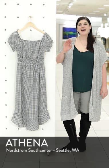 Gingham Off the Shoulder Dress, sales video thumbnail