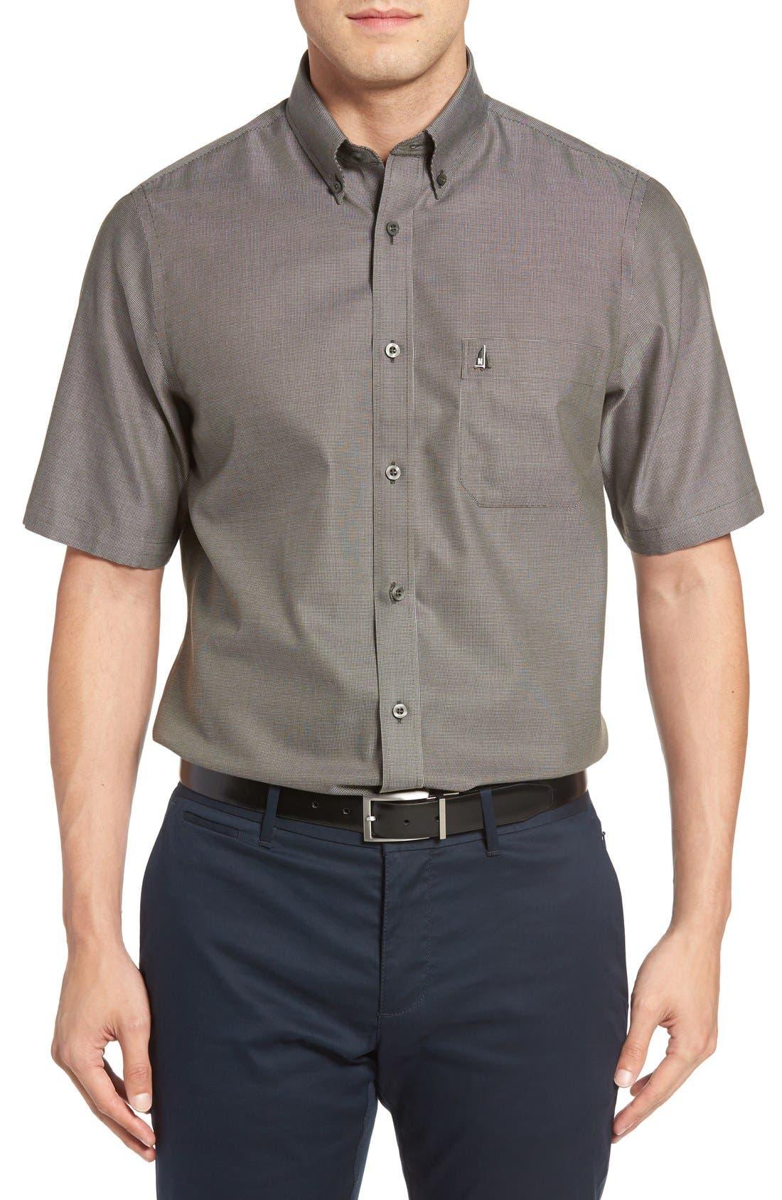 'Classic' Smartcare<sup>™</sup> Regular Fit Short Sleeve Cotton Sport Shirt,                             Main thumbnail 10, color,