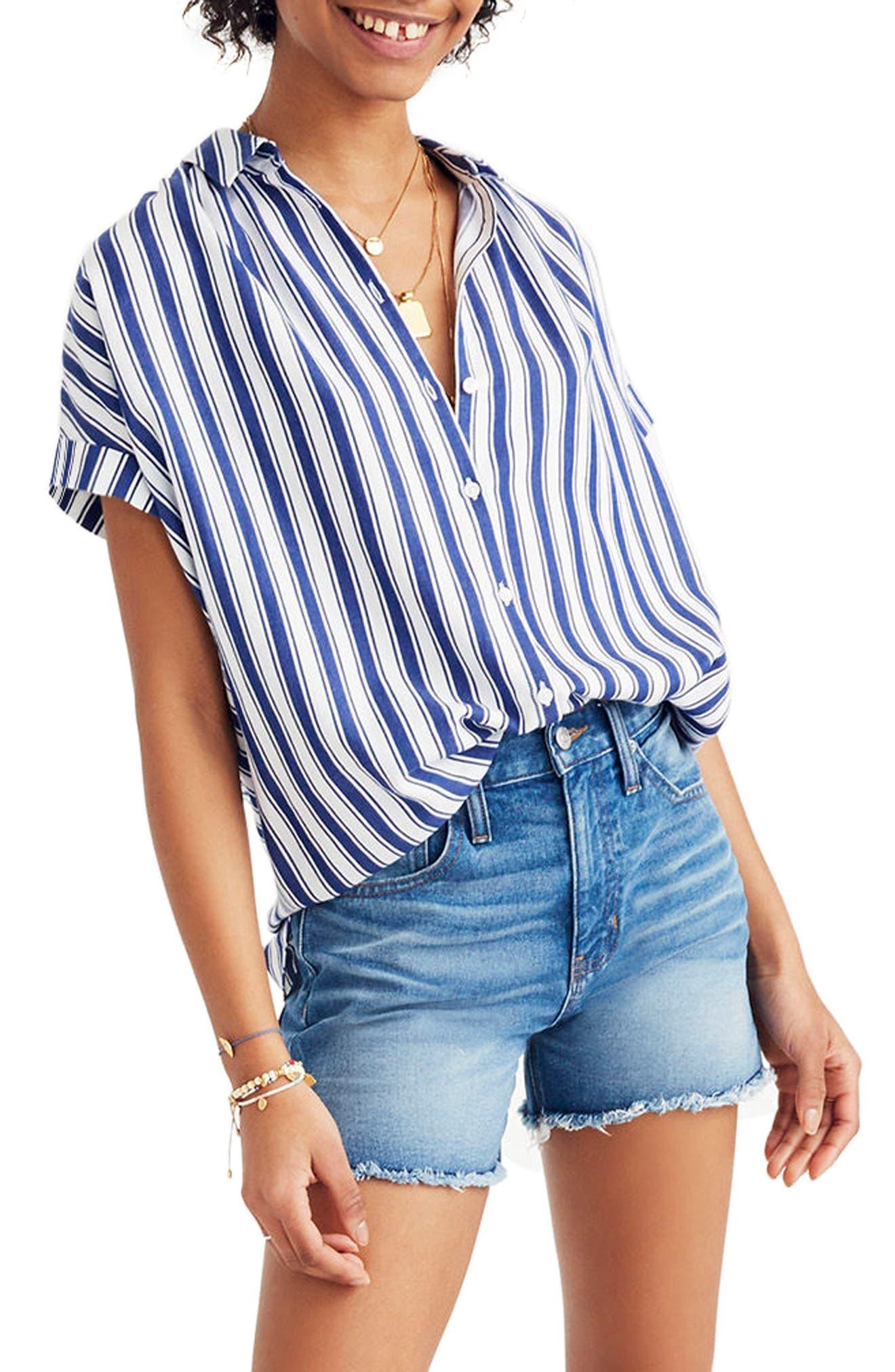Stripe Central Shirt,                             Main thumbnail 1, color,                             400