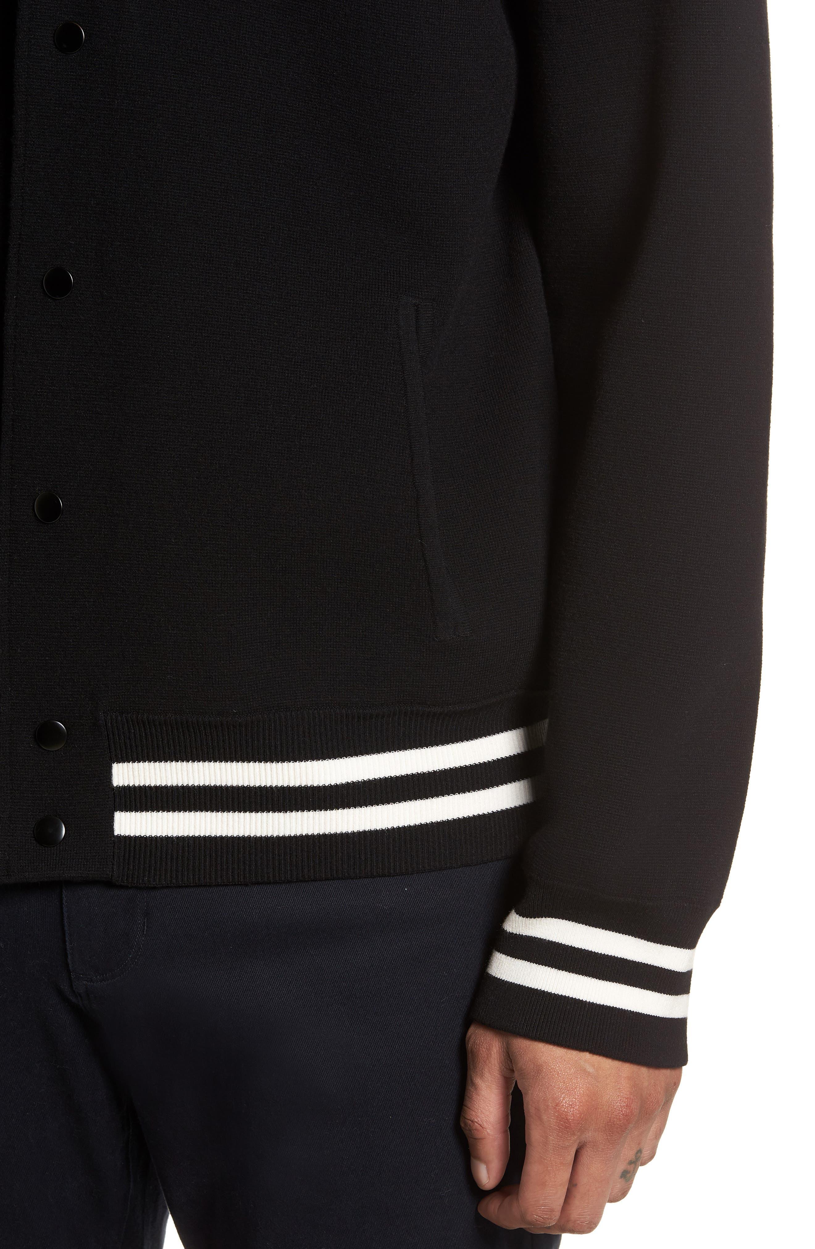 Varsity Regular Fit Jacket,                             Alternate thumbnail 4, color,                             001