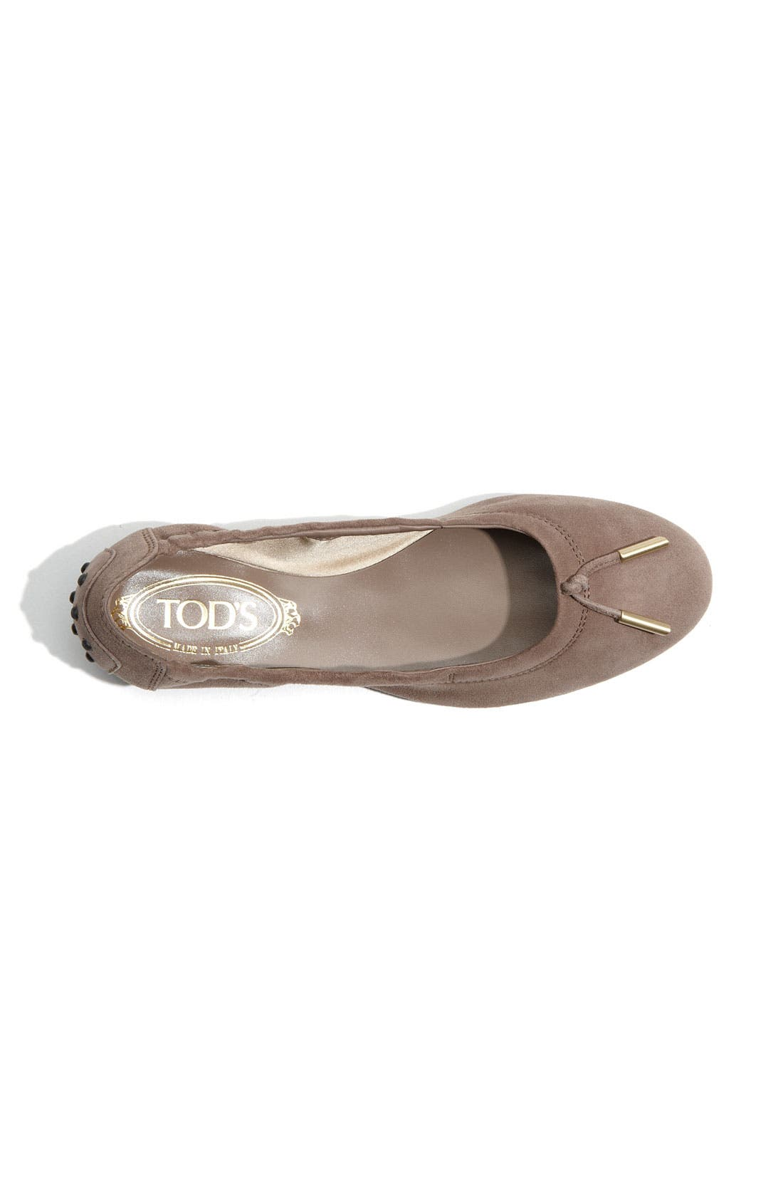 Bow Trim Patent Leather Flat,                             Alternate thumbnail 9, color,