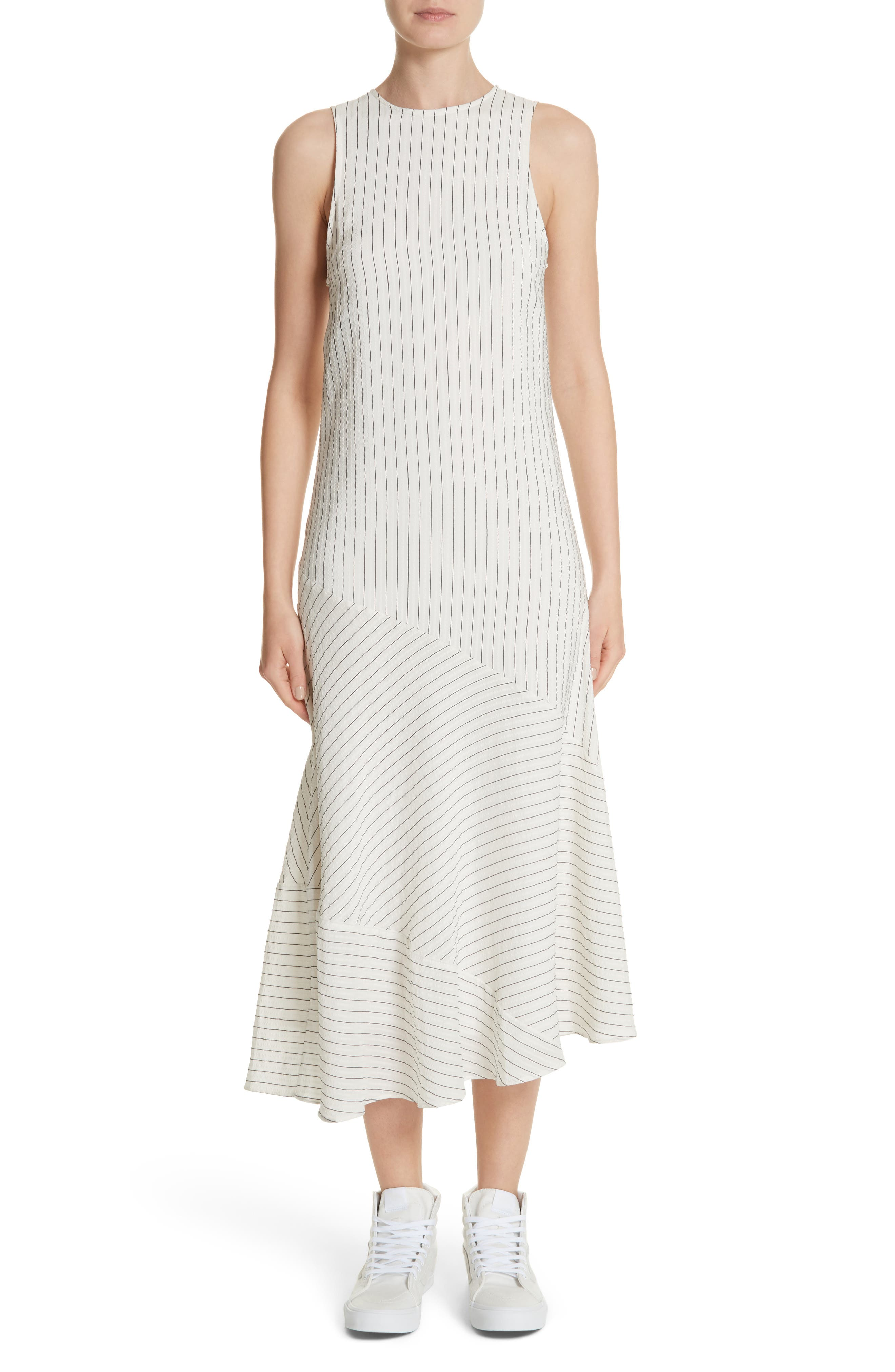 Wilkie Seersucker Striped Sheath Dress,                             Main thumbnail 1, color,                             900