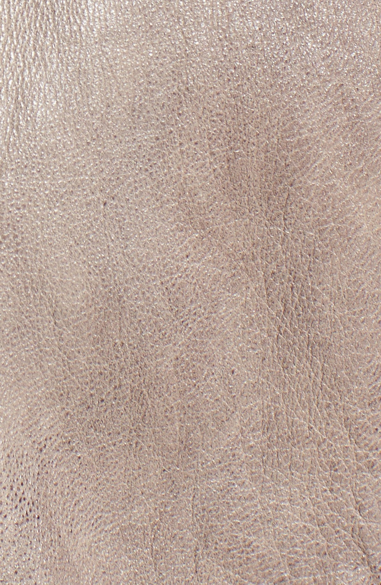 Leather Moto Jacket,                             Alternate thumbnail 5, color,                             020