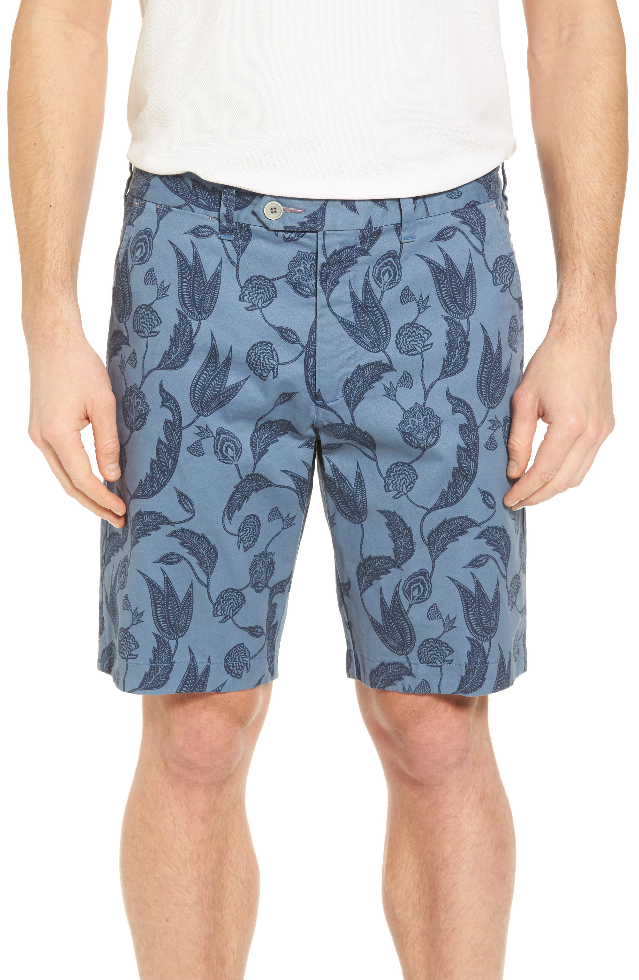 Uniprin Trim Fit Floral Golf Shorts,                             Main thumbnail 1, color,                             430