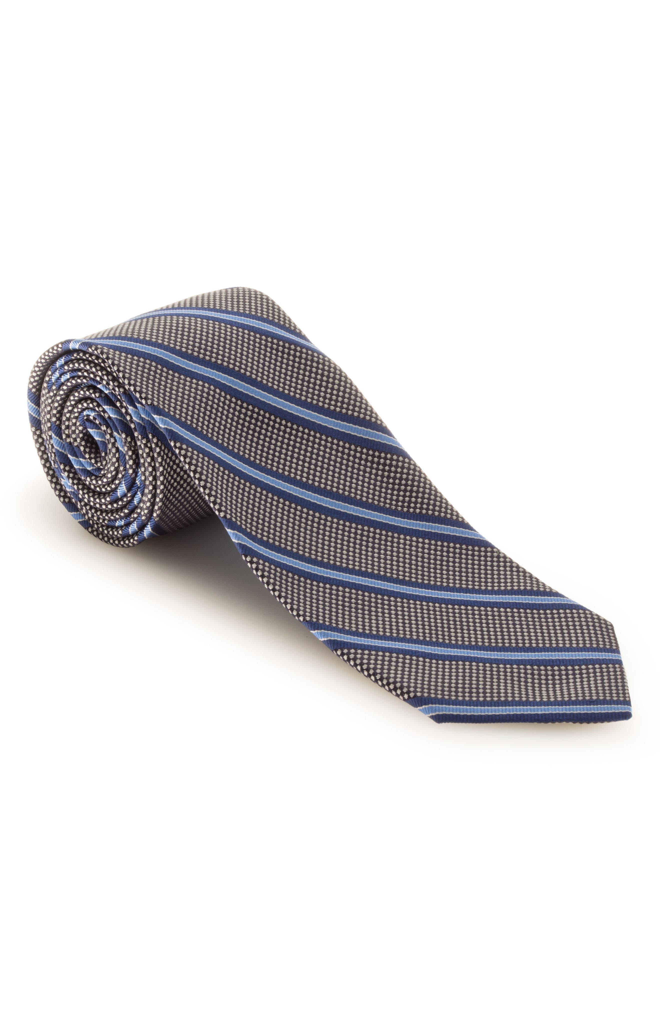 Stripe Silk Tie,                             Main thumbnail 1, color,                             020