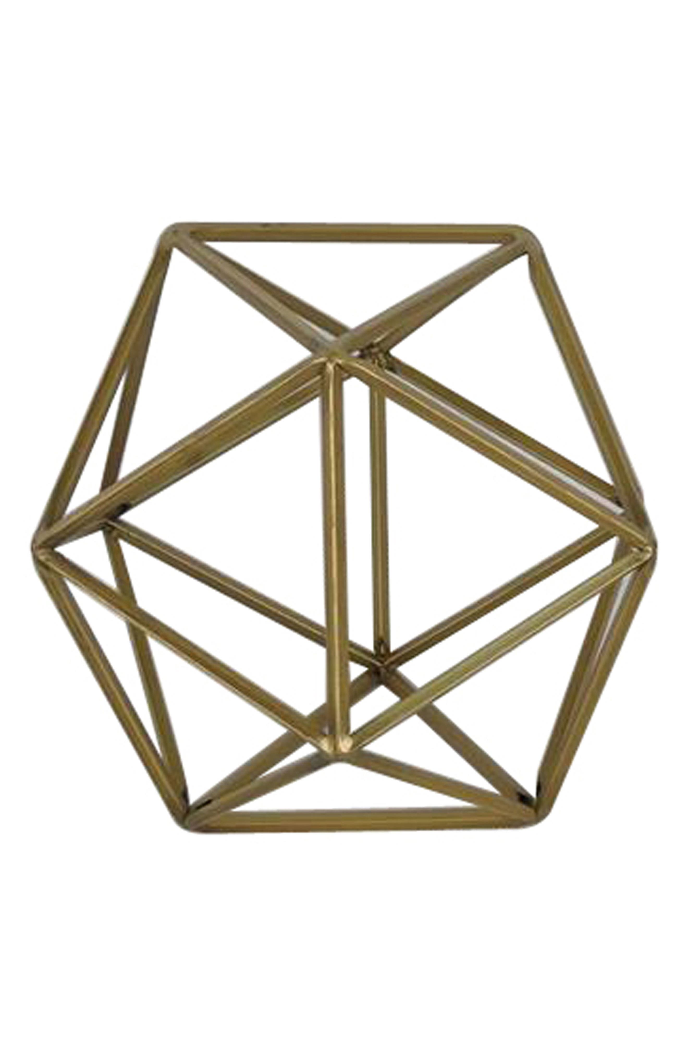 Crystal Art Galley Geometric Metal Tabletop Decoration,                         Main,                         color, 710