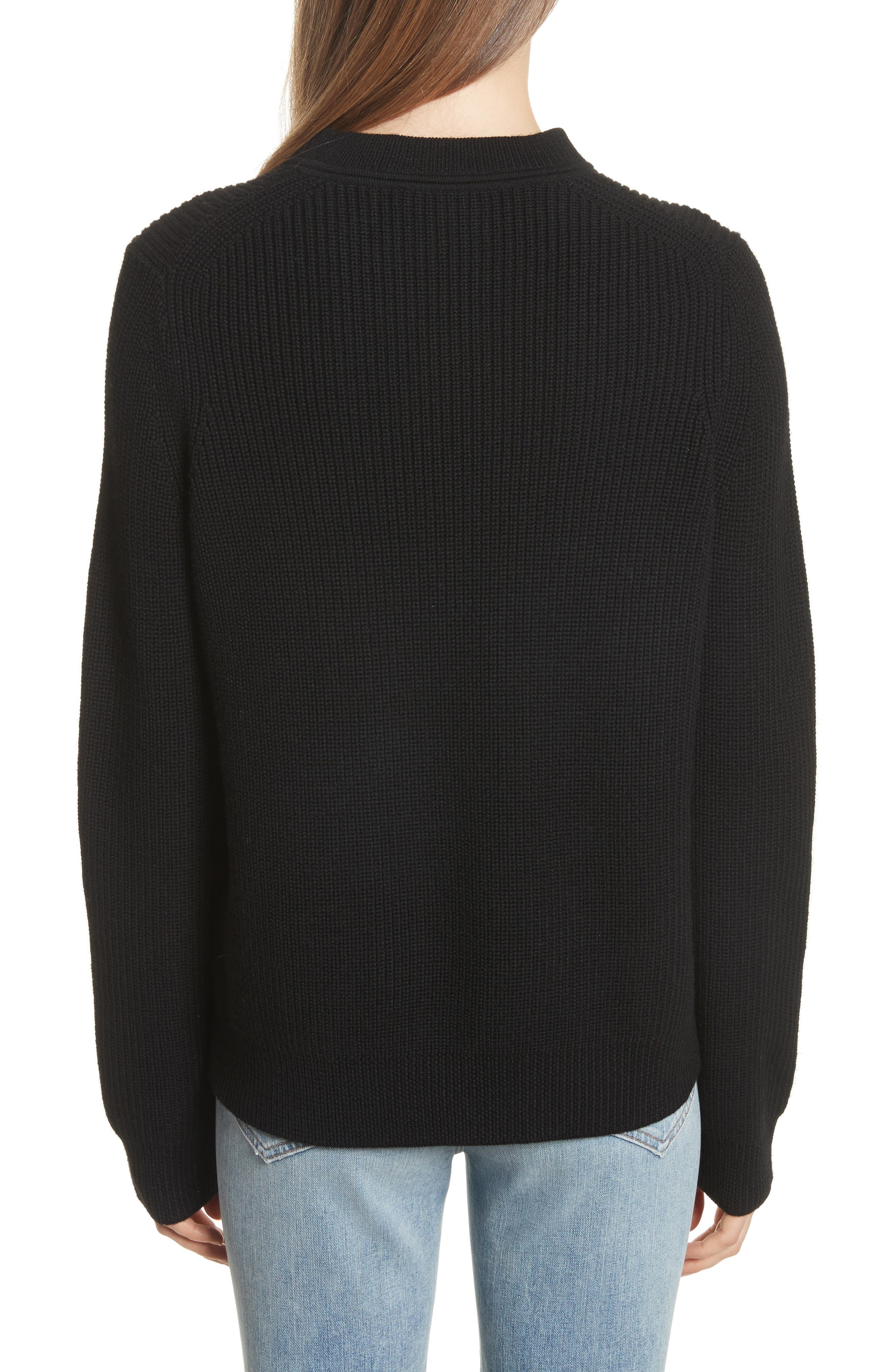 Tori Cutout Sweatshirt,                             Alternate thumbnail 3, color,