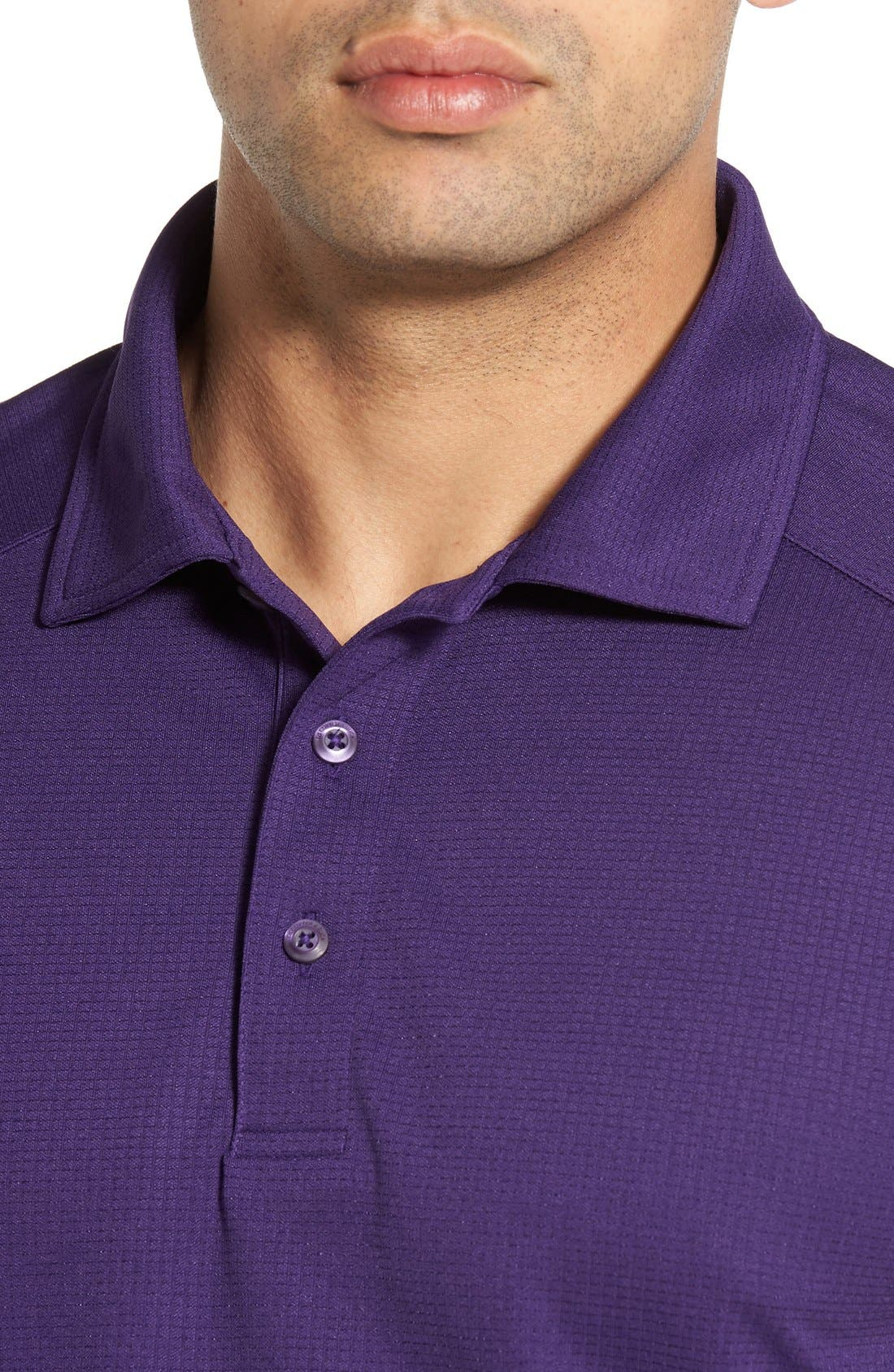 'Genre' DryTec Moisture Wicking Polo,                             Alternate thumbnail 5, color,                             COLLEGE PURPLE