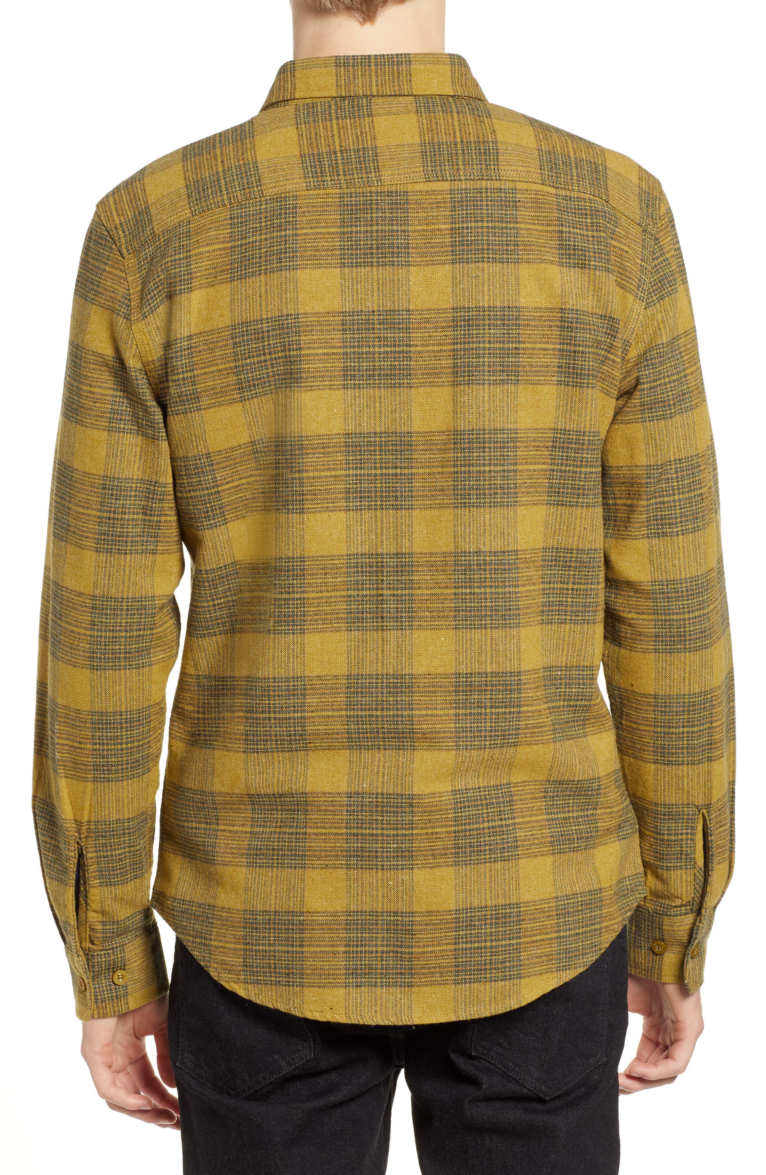 Bowery Flannel Shirt,                             Alternate thumbnail 3, color,                             AVOCADO