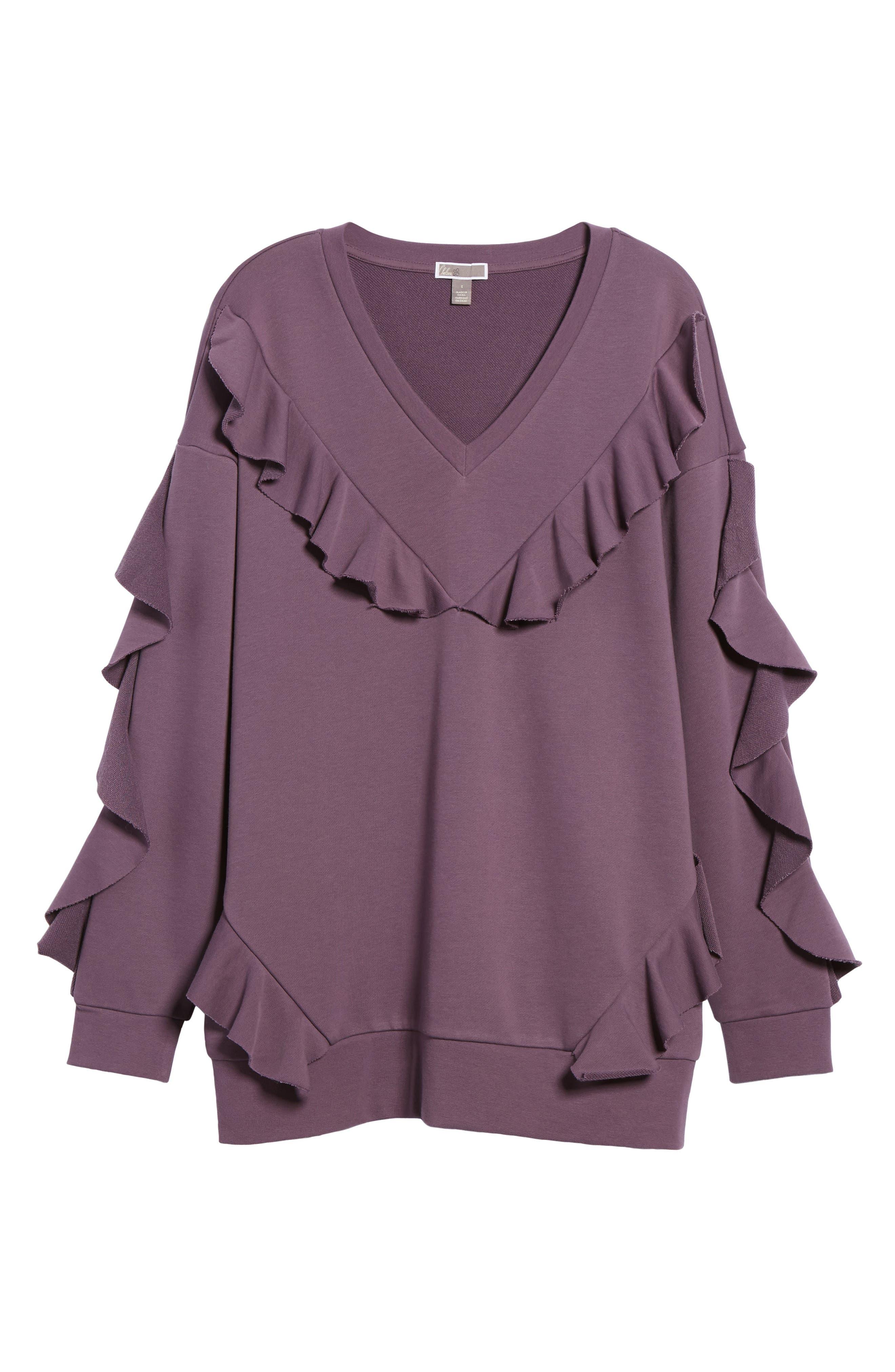 Ruffle Sweatshirt,                             Alternate thumbnail 12, color,
