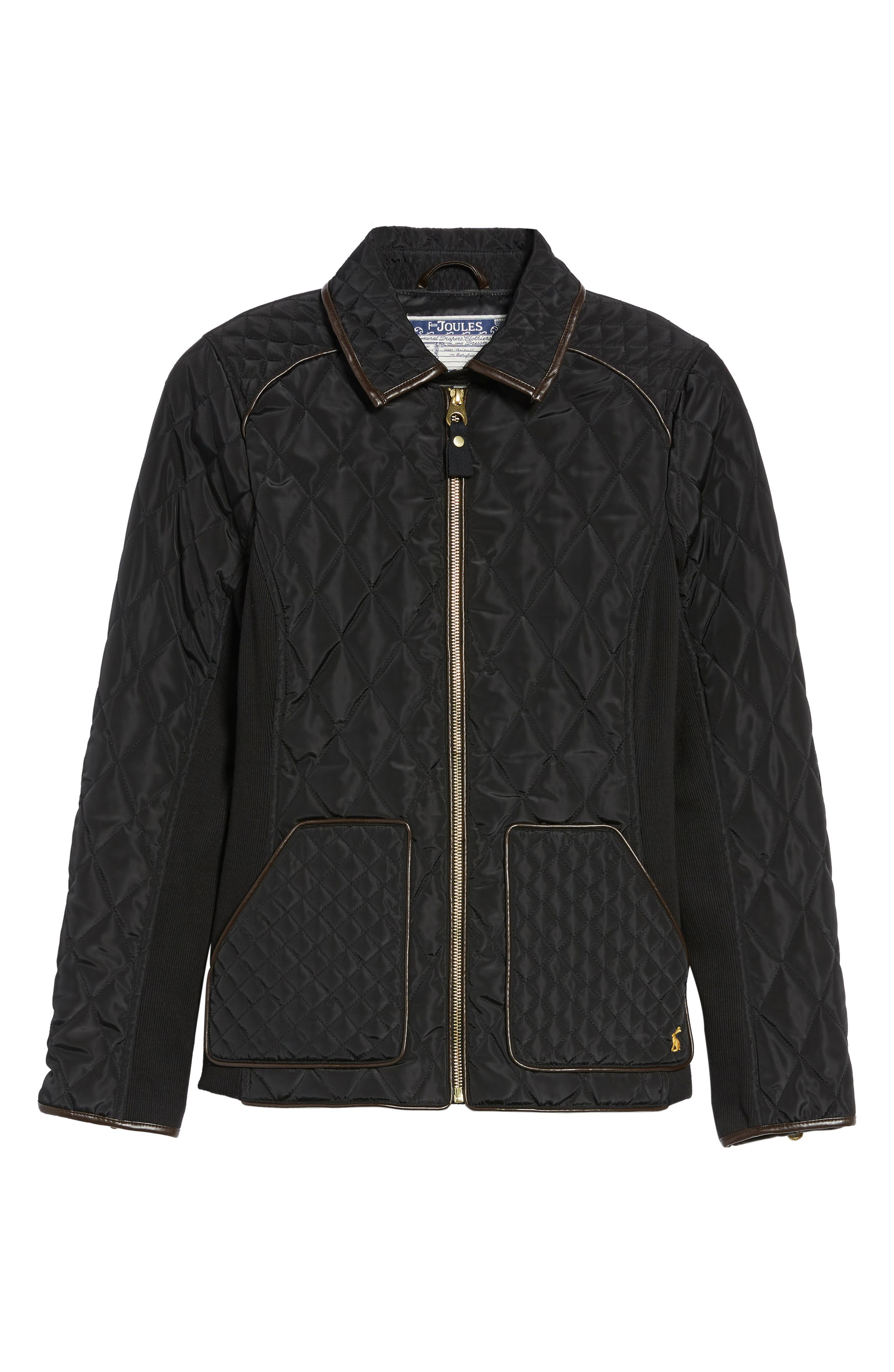 Warm Welcome Quilted Jacket,                             Alternate thumbnail 6, color,                             001