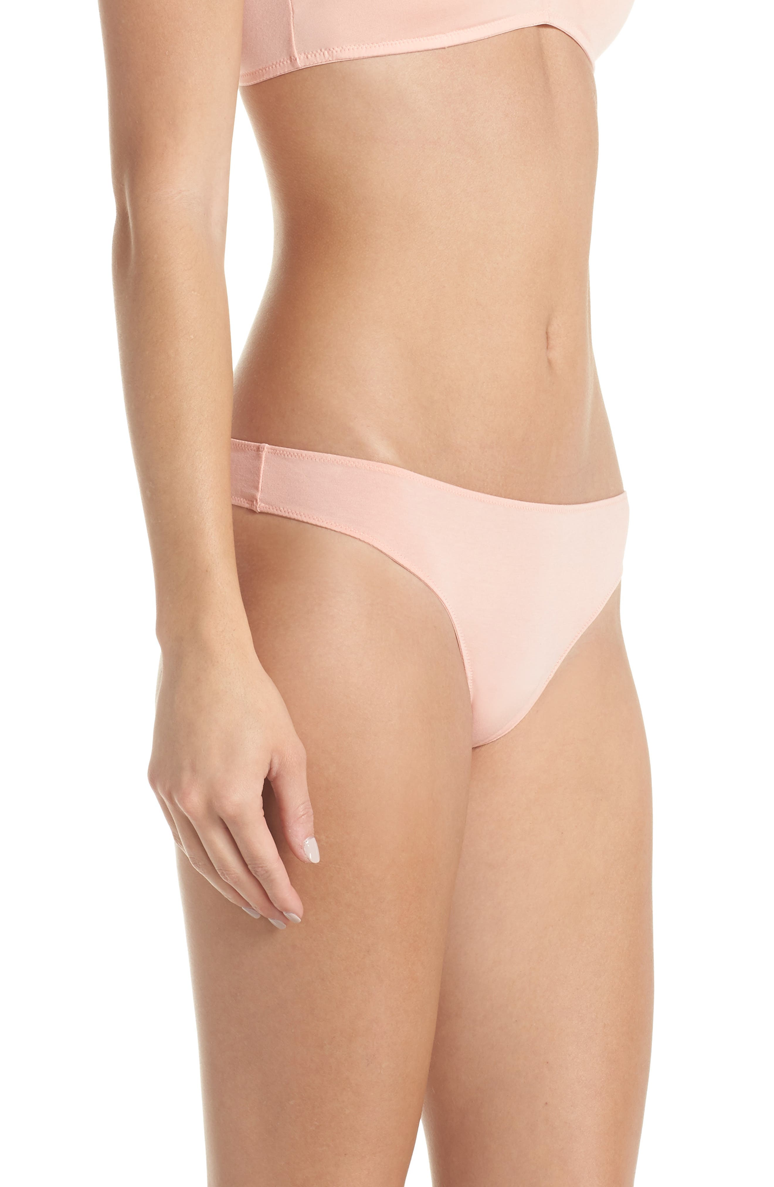 Jersey Thong,                             Alternate thumbnail 3, color,                             BLANCHED CORAL