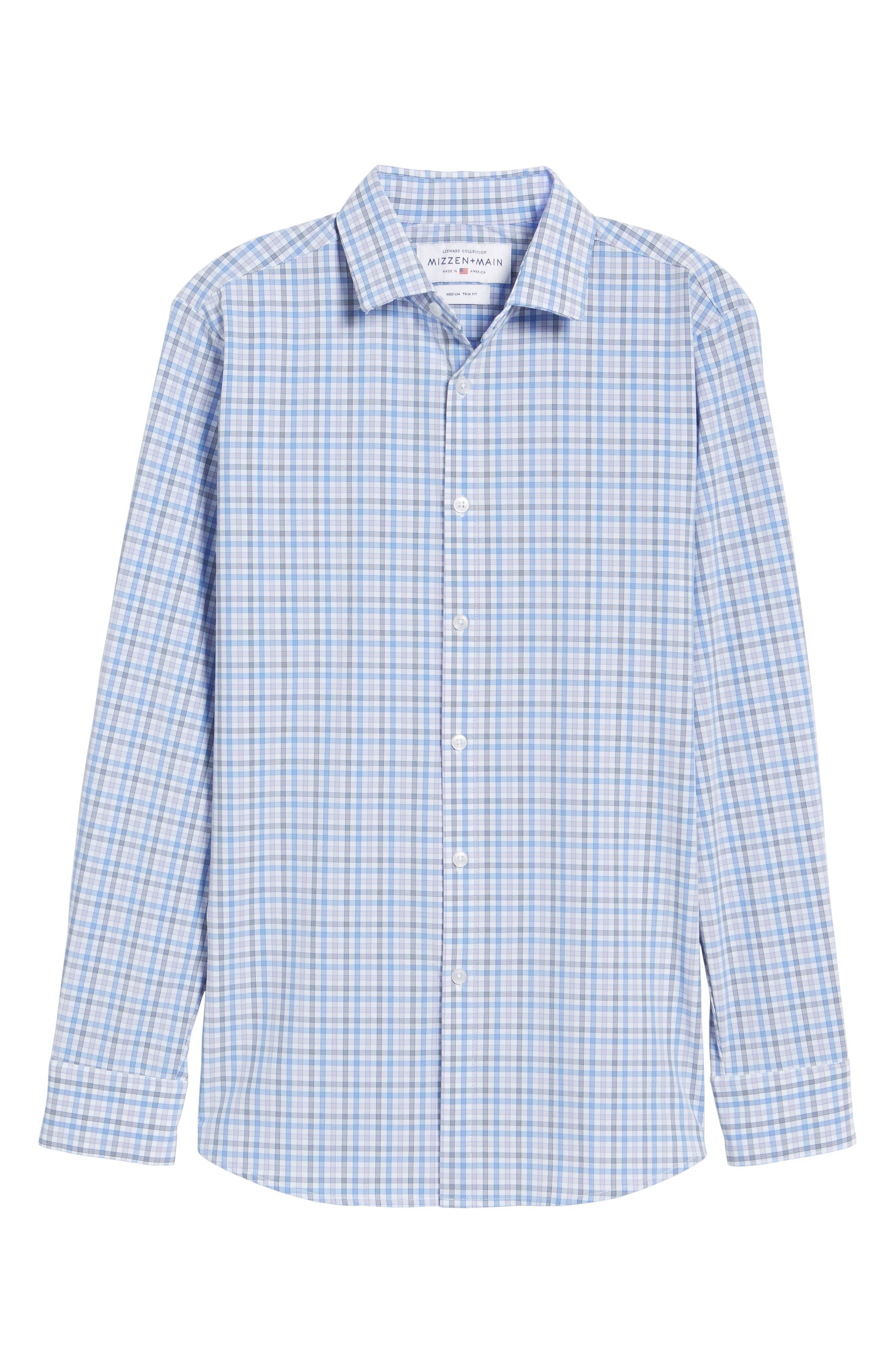 Donley Tattersall Sport Shirt,                             Alternate thumbnail 6, color,                             BLUE