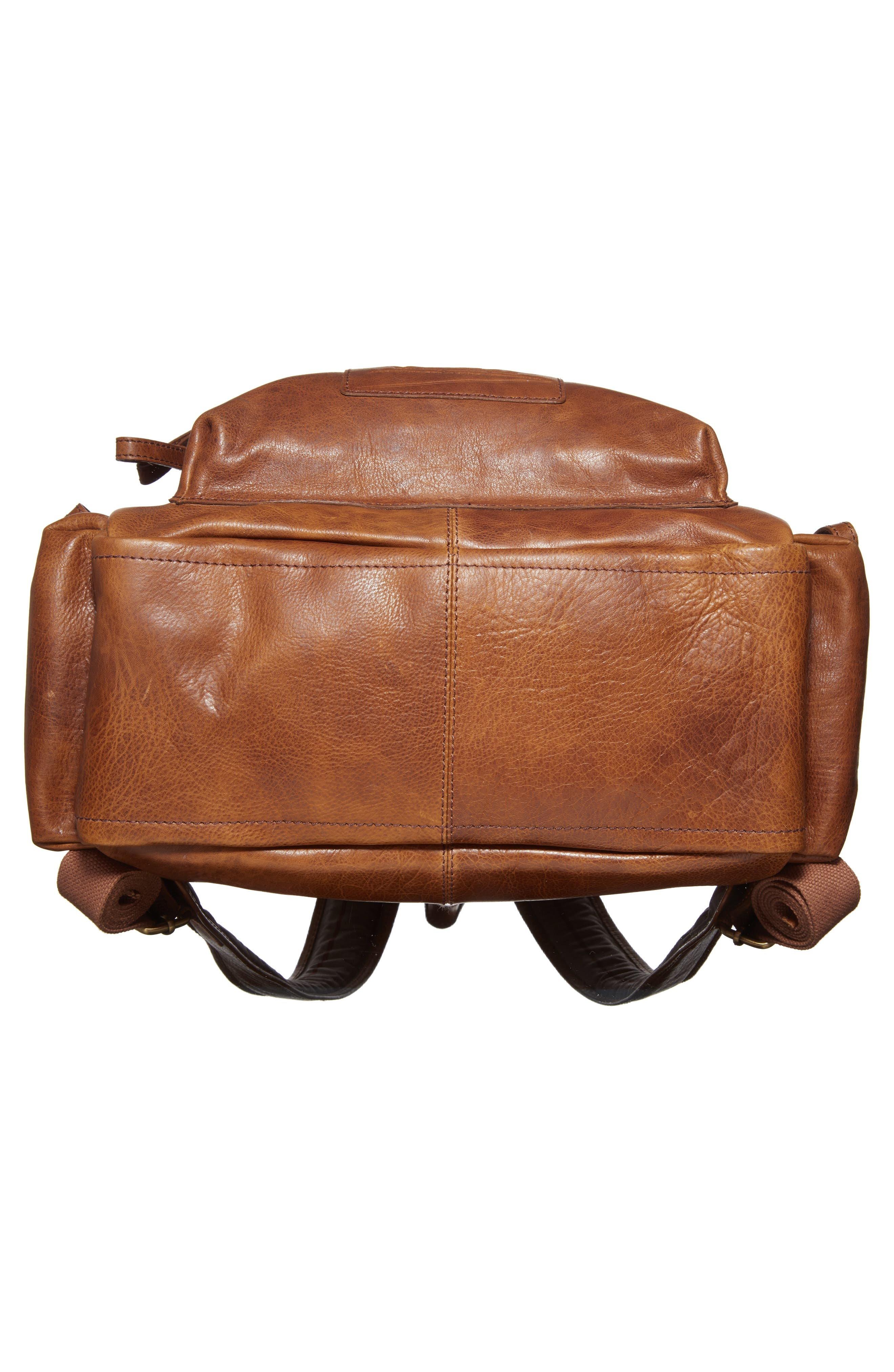 'Rugged' Leather Backpack,                             Alternate thumbnail 6, color,                             202