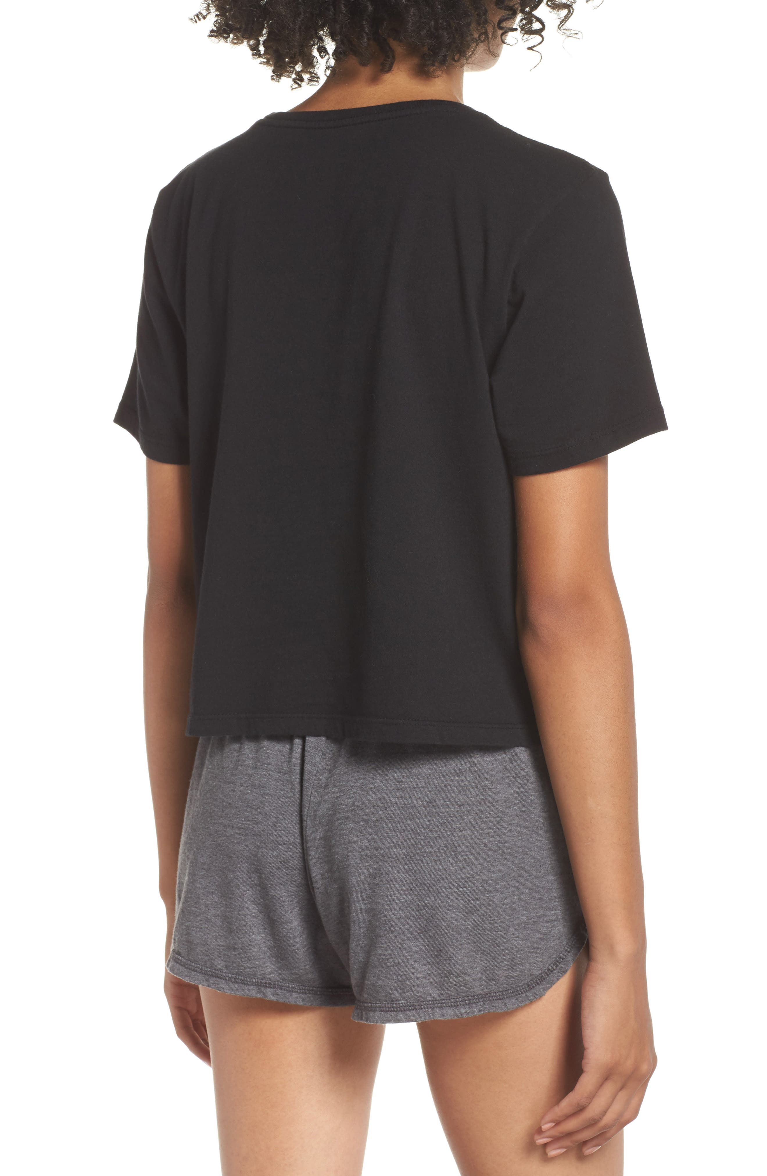 Boxy Crop Tee,                             Alternate thumbnail 2, color,                             BLACK