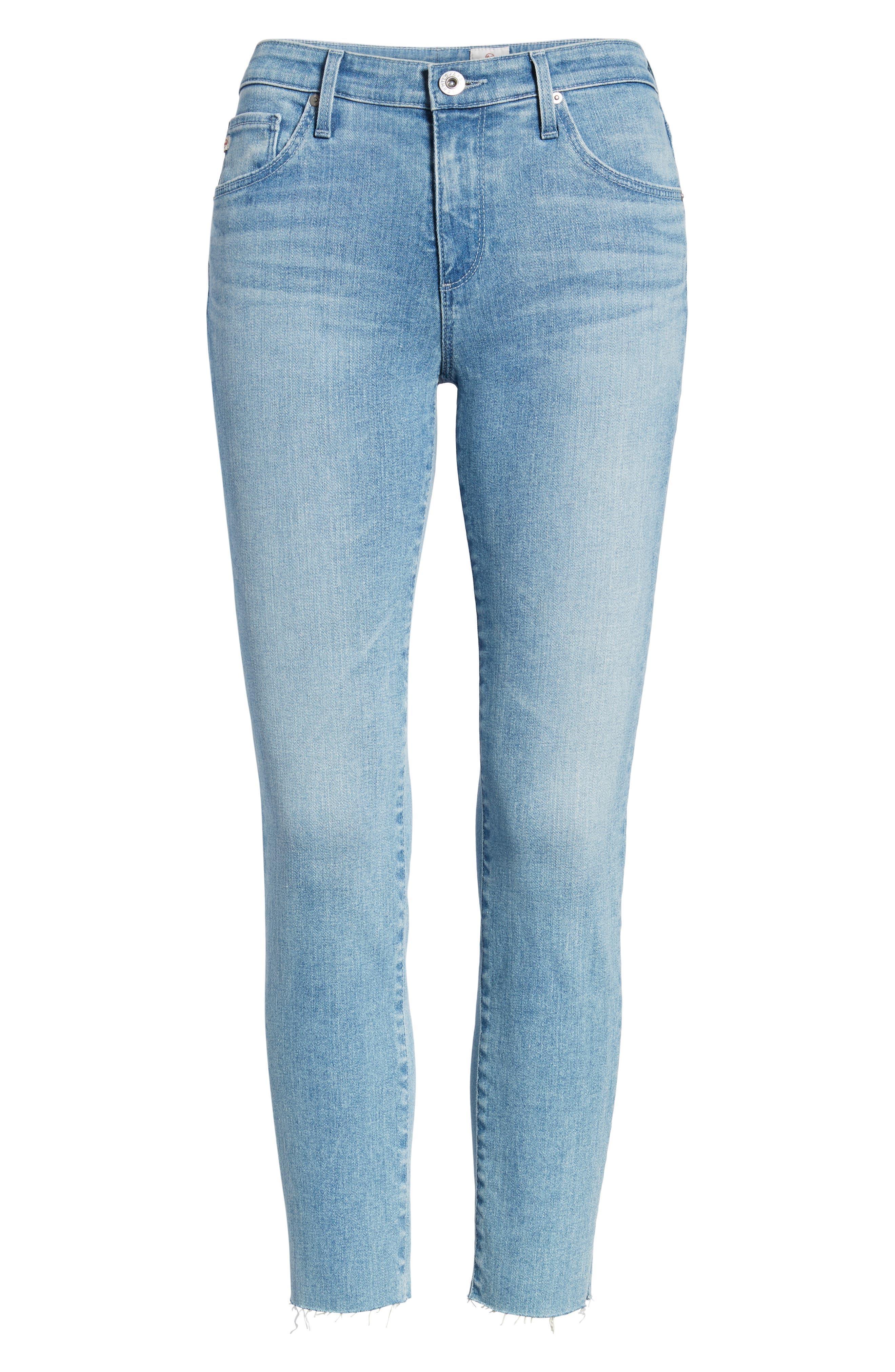 Prima Crop Skinny Jeans,                             Alternate thumbnail 7, color,                             SINGULARITY