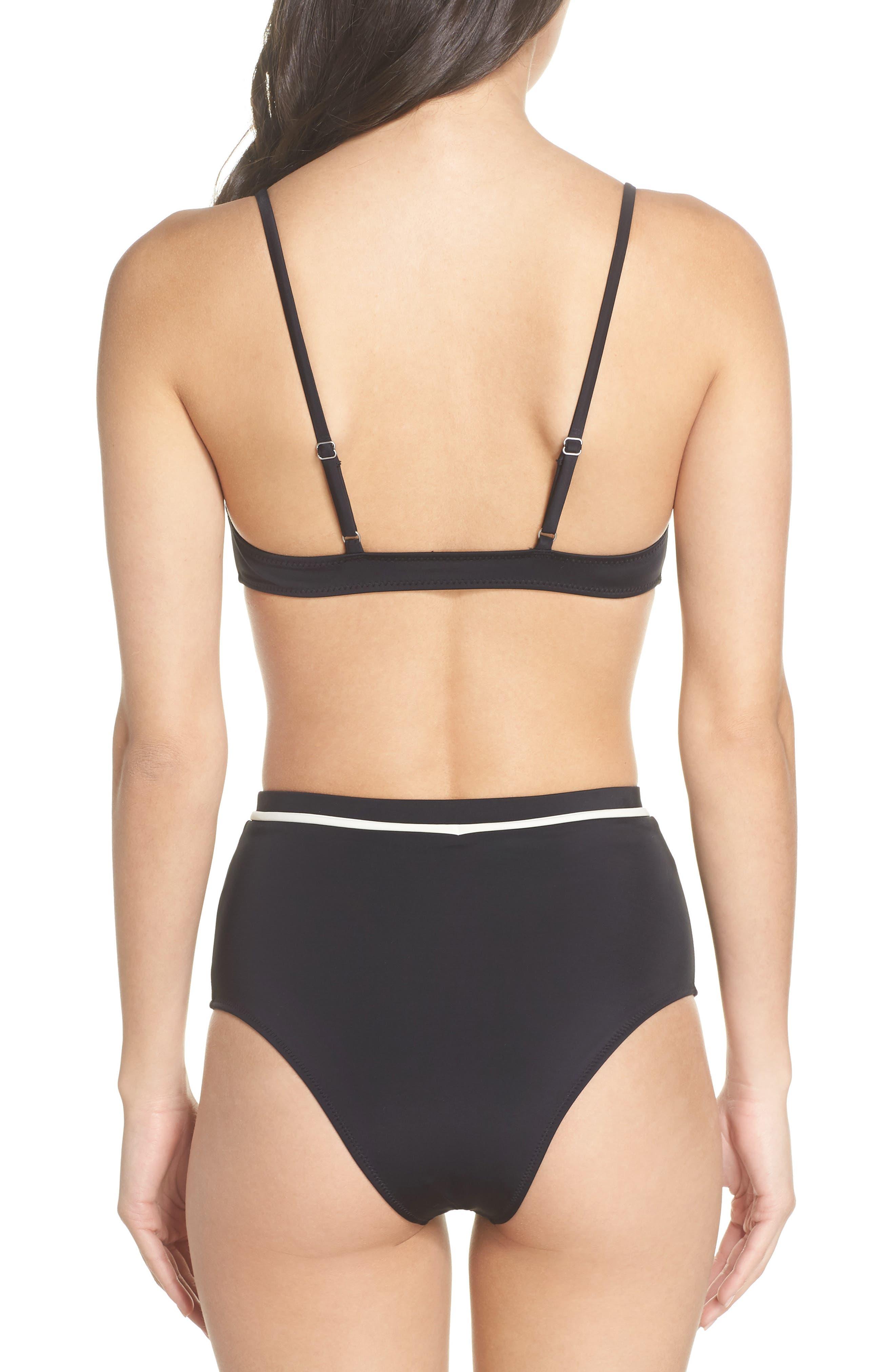 Cora Bikini Top,                             Alternate thumbnail 8, color,                             BLACK