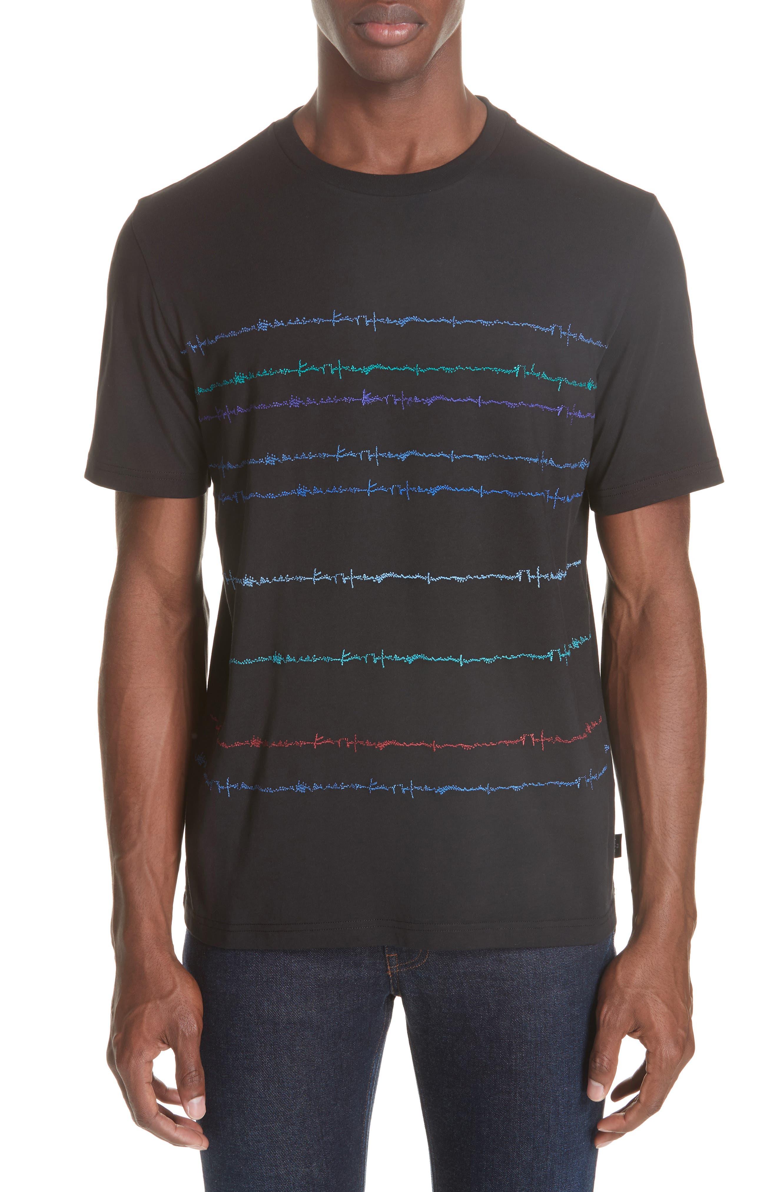 Noise Print T-Shirt,                         Main,                         color, BLACK