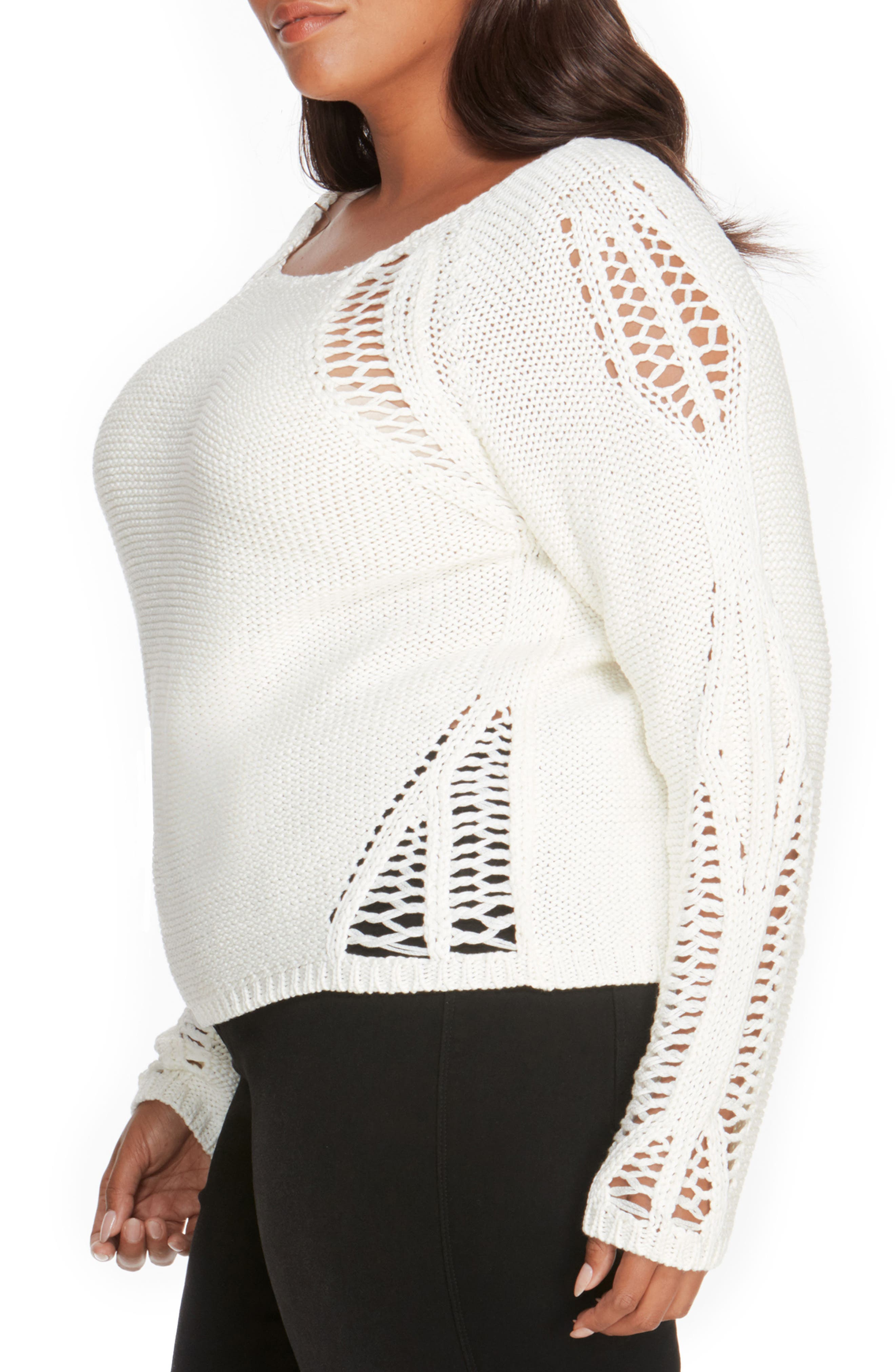 Open Stitch Sweater,                             Alternate thumbnail 3, color,                             107