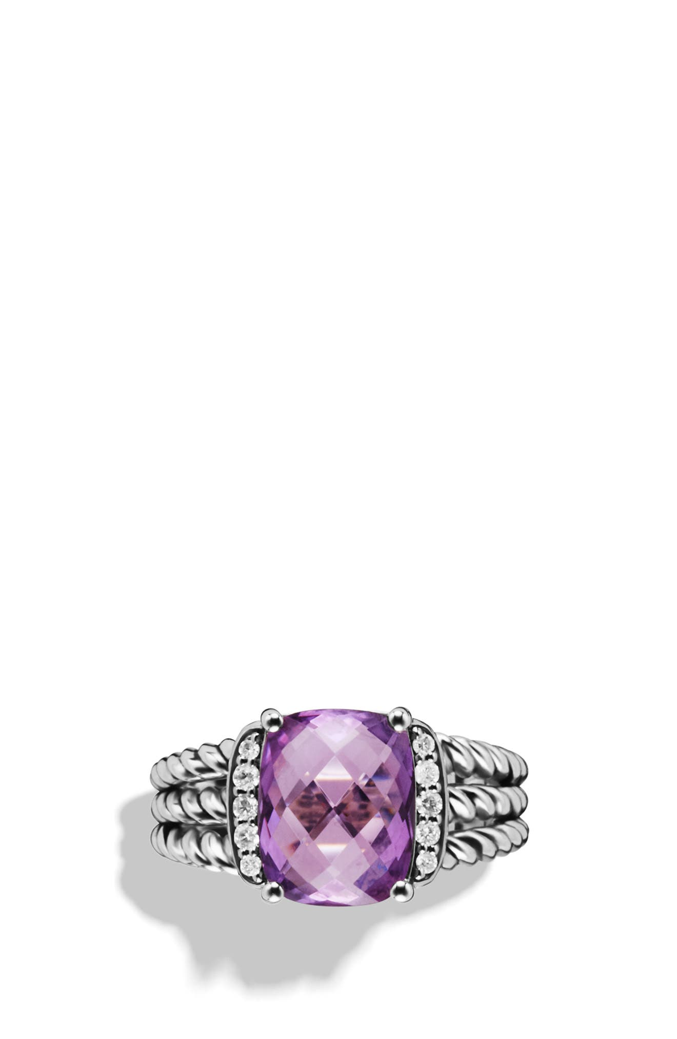 'Wheaton' Petite Ring with Semiprecious Stone & Diamonds,                         Main,                         color, 040