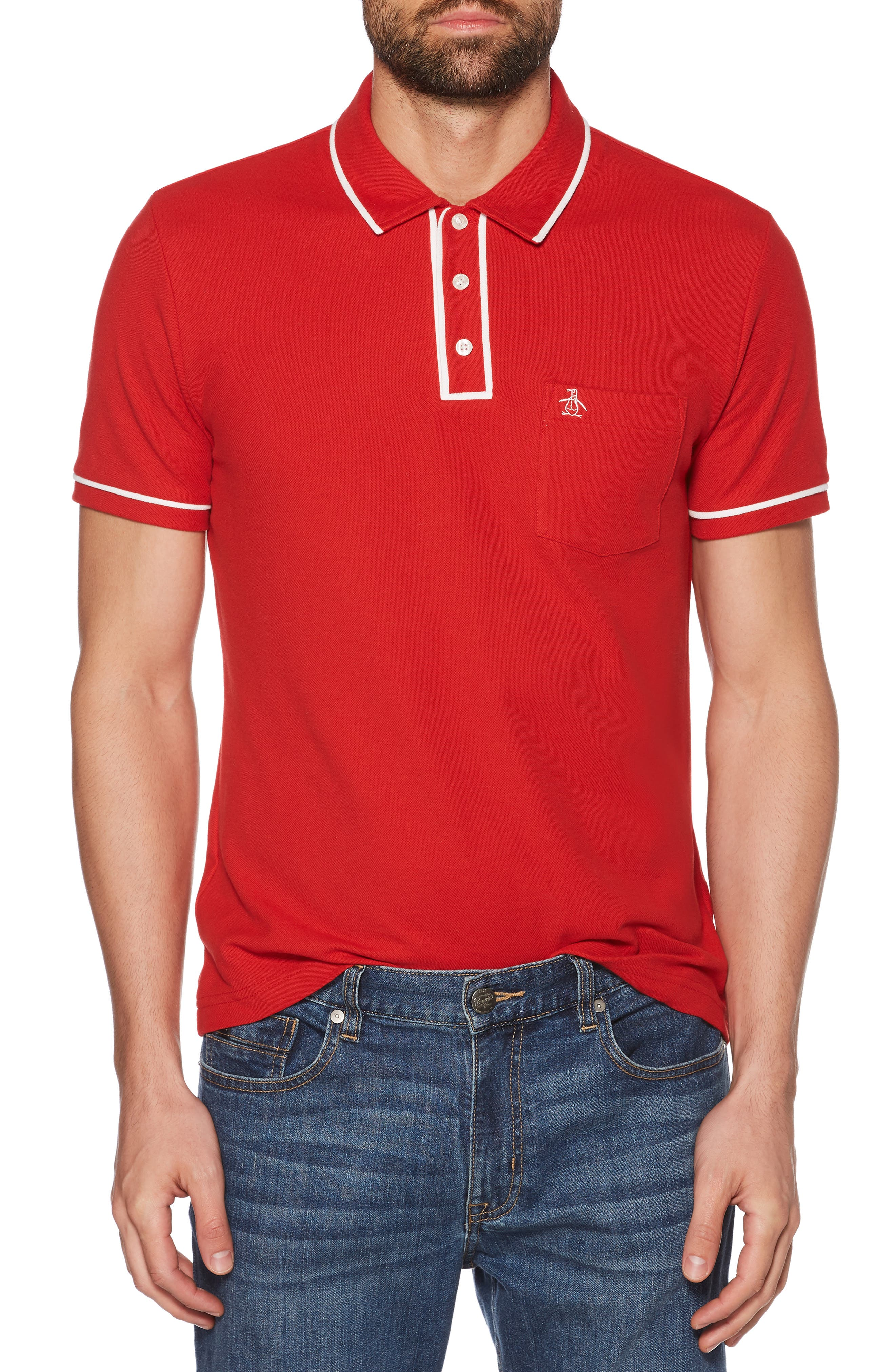 The Earl Piqué Polo,                         Main,                         color, SAMBA