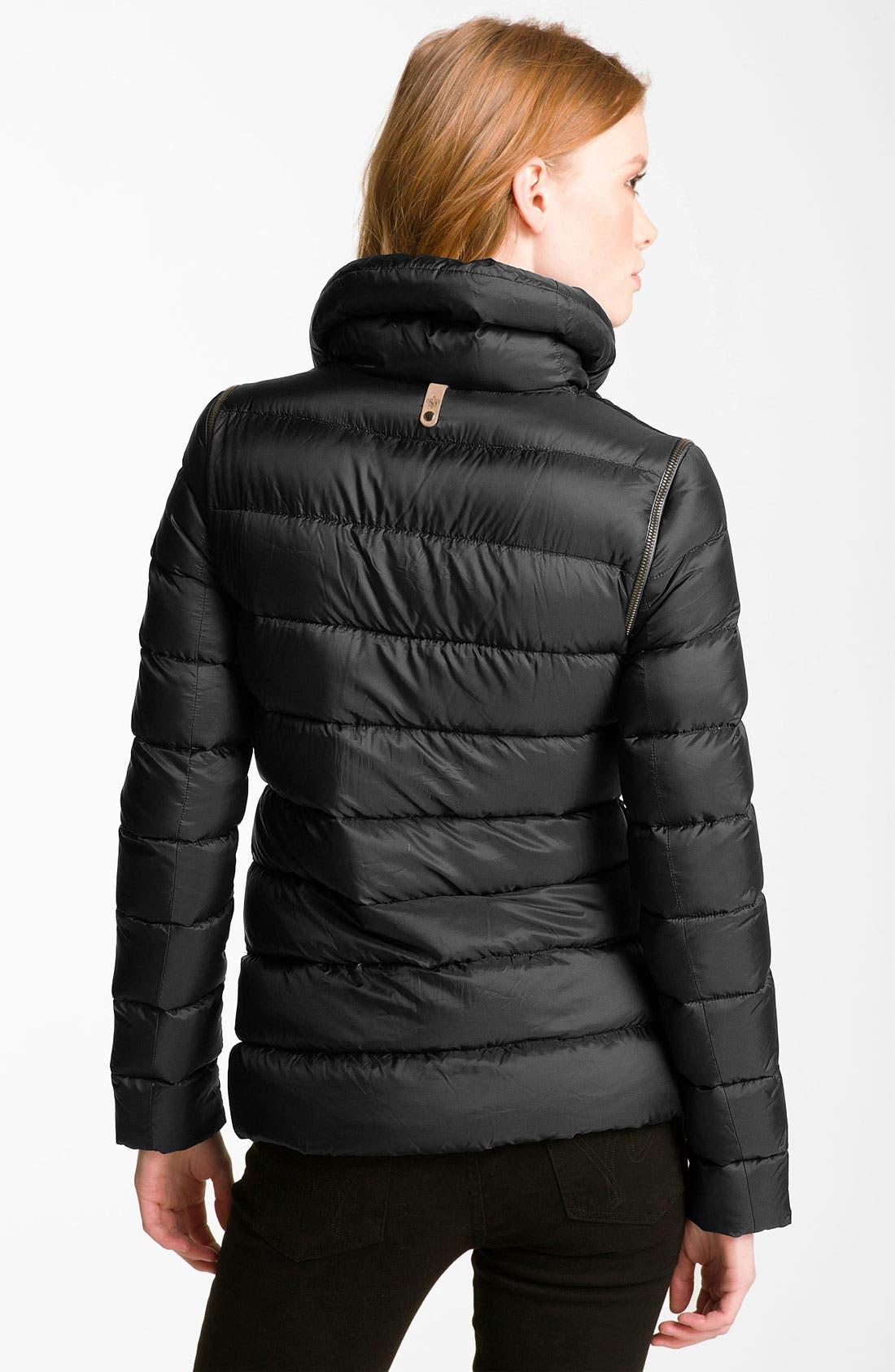 Asymmetrical Zip Down Jacket,                             Alternate thumbnail 2, color,                             001