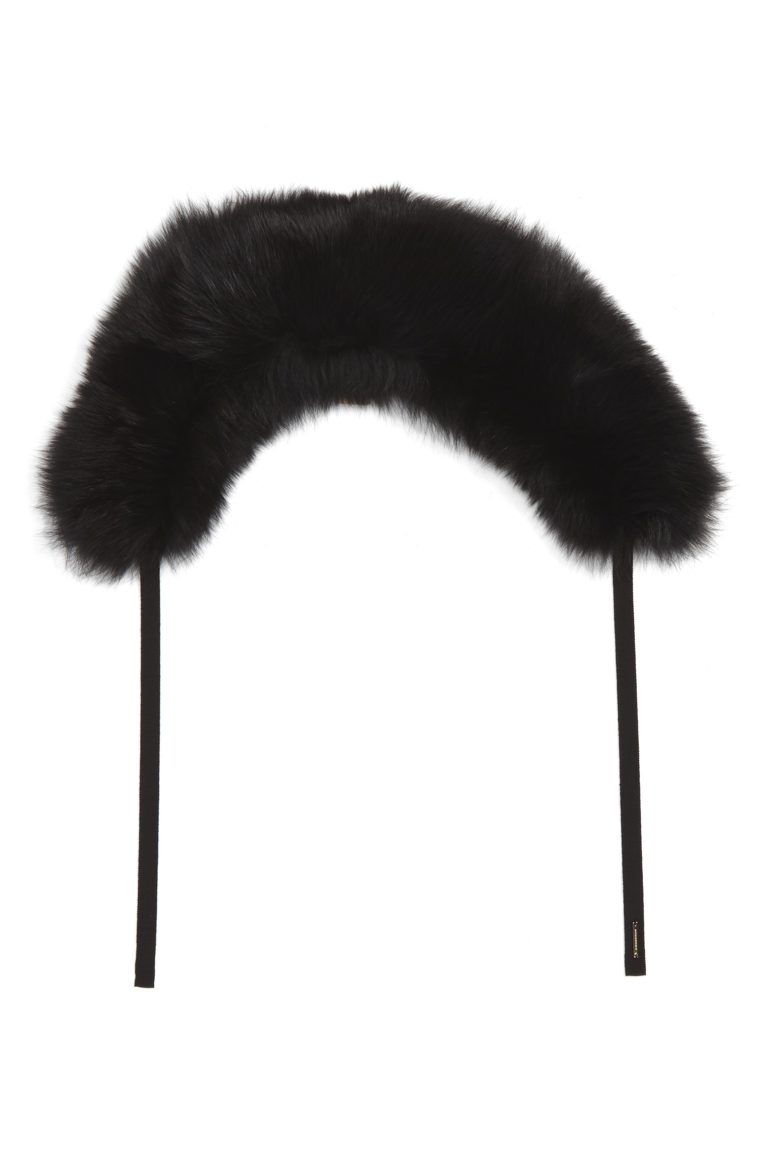 Genuine Fox Fur Collar,                             Alternate thumbnail 2, color,                             001