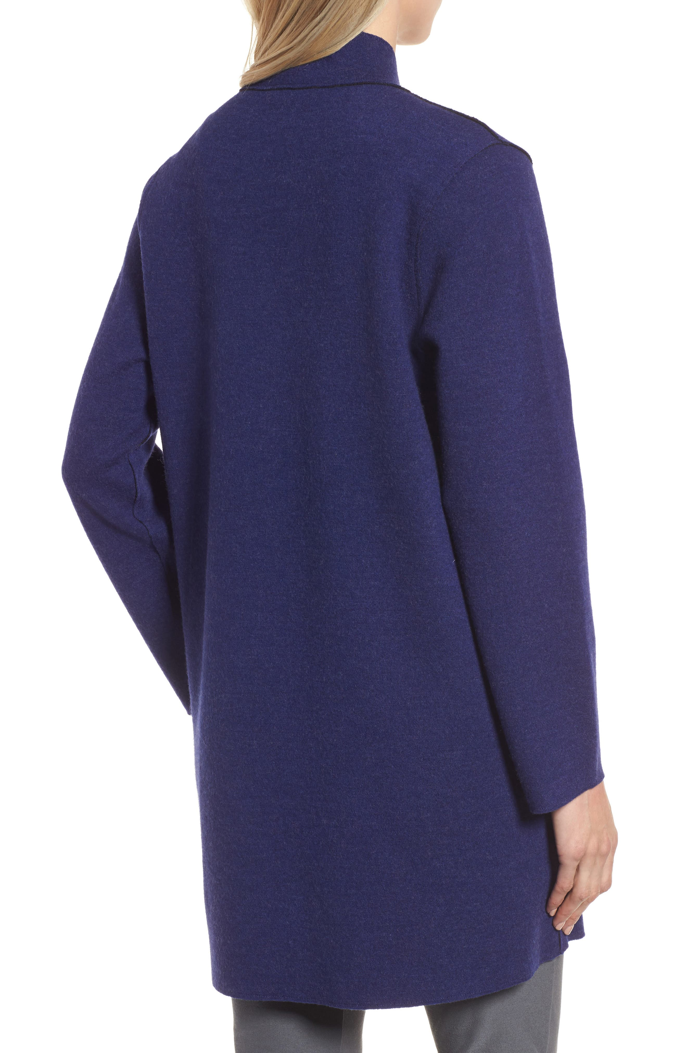 Notch Collar Merino Wool Topper,                             Alternate thumbnail 6, color,