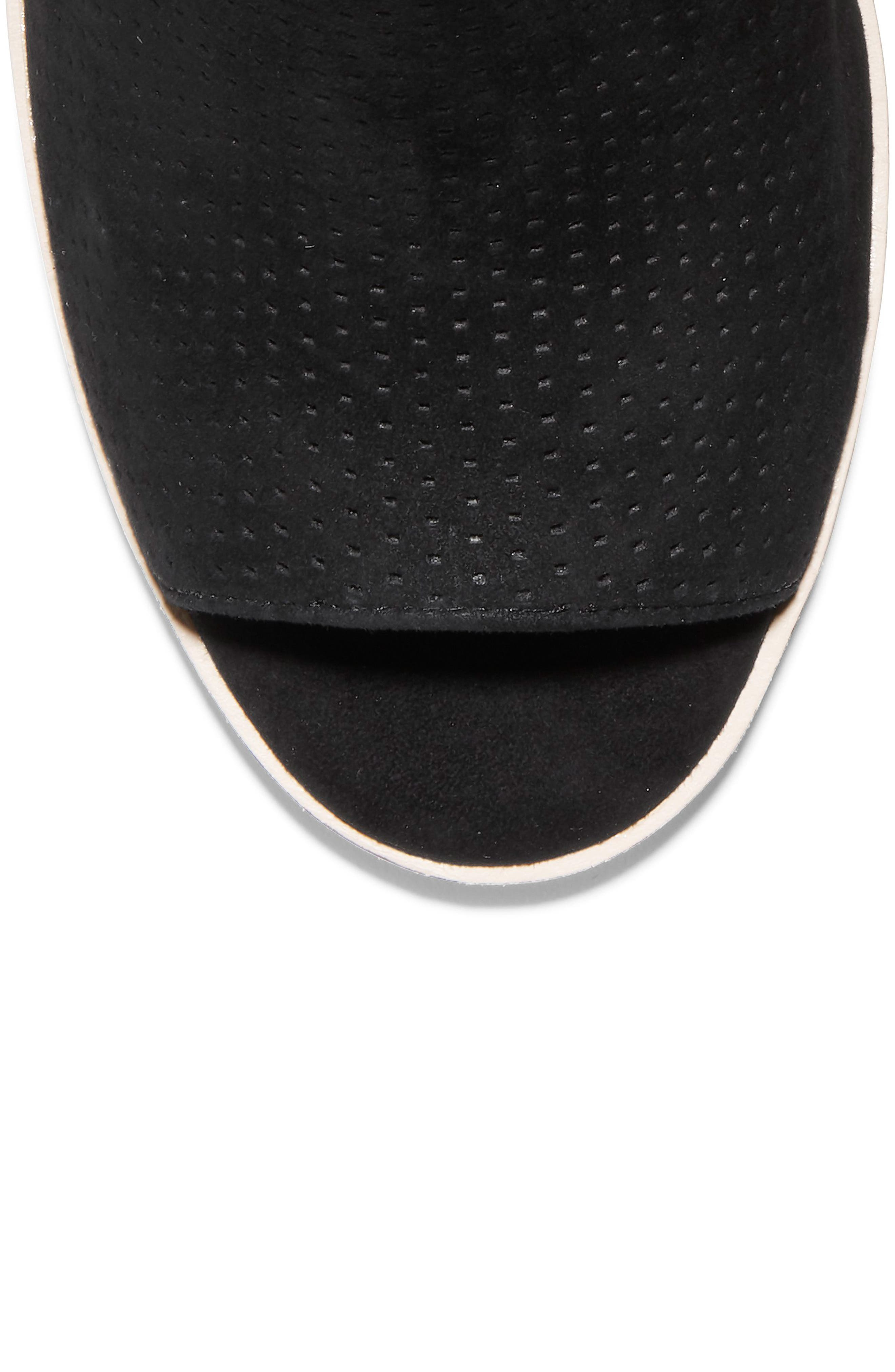 Callista Perforated Slingback Sandal,                             Alternate thumbnail 7, color,                             BLACK PERF SUEDE
