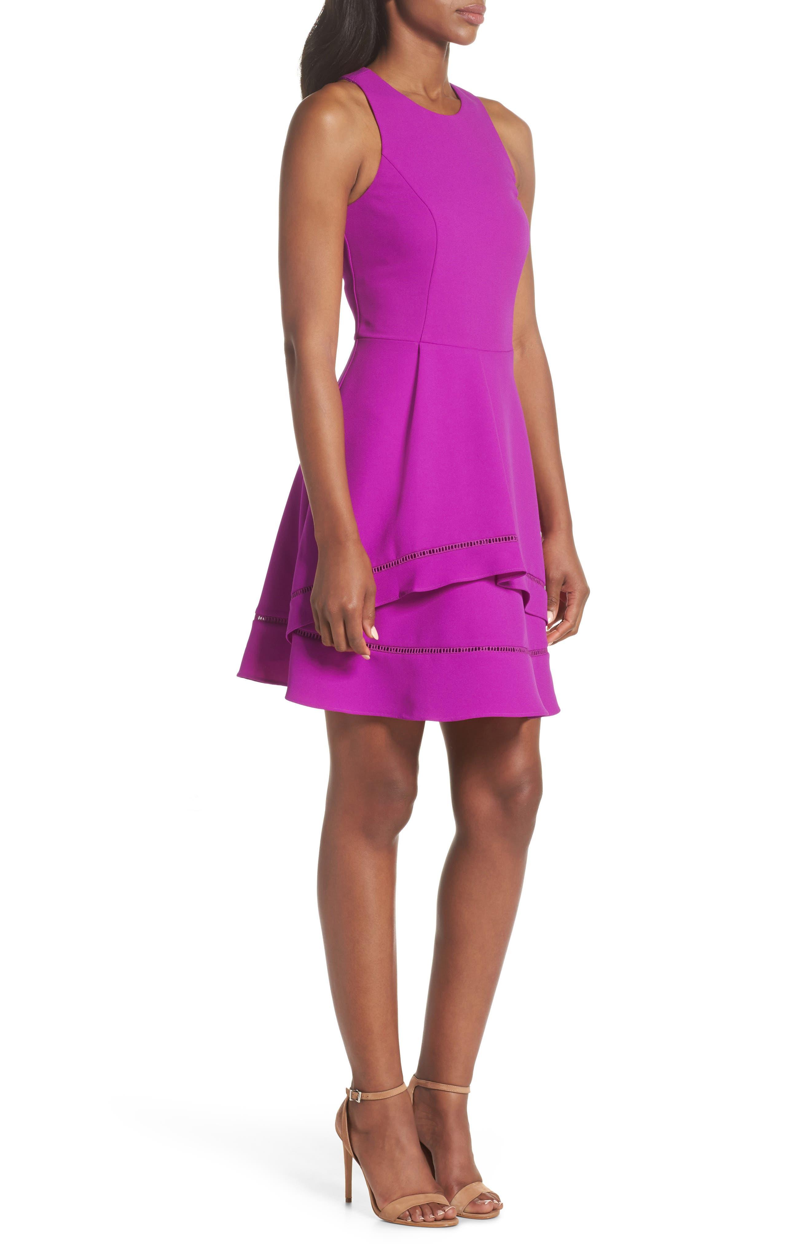 Gemma Fit & Flare Dress,                             Alternate thumbnail 6, color,