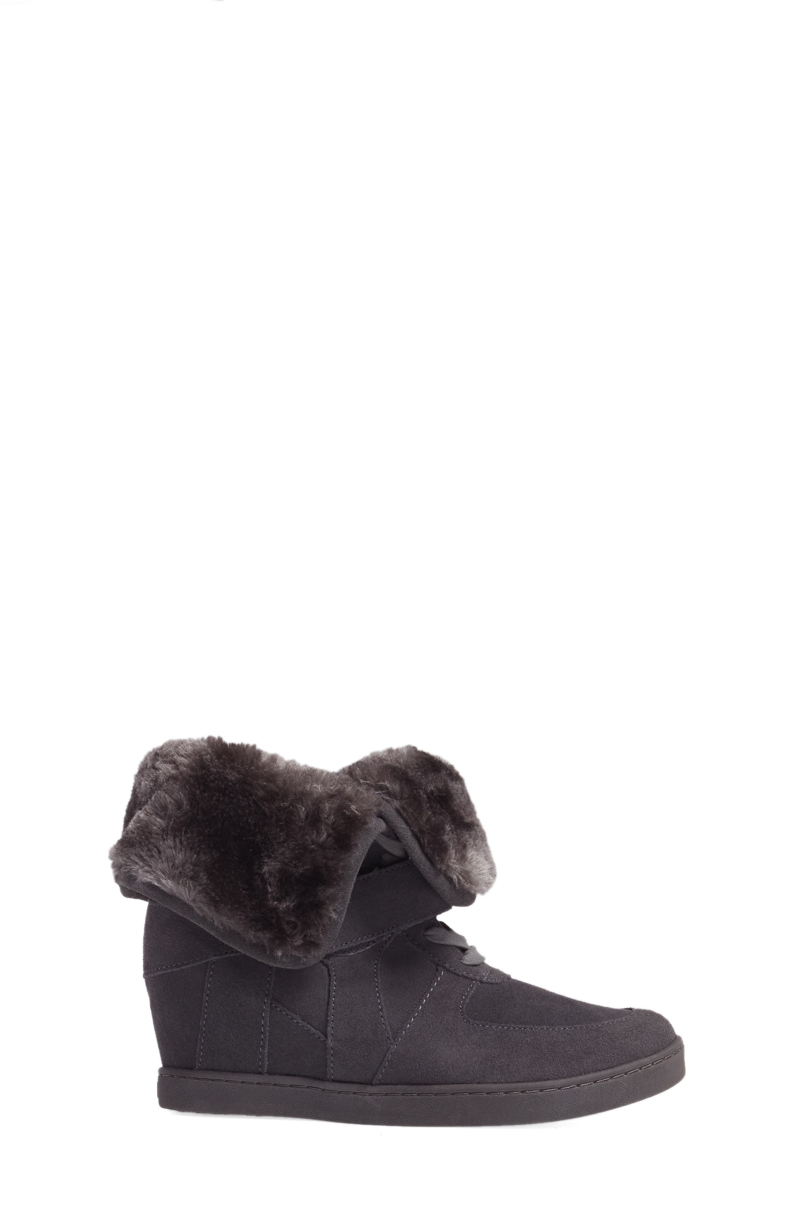 Boogie Beaver Faux Fur Cuffed Bootie,                             Alternate thumbnail 3, color,                             052