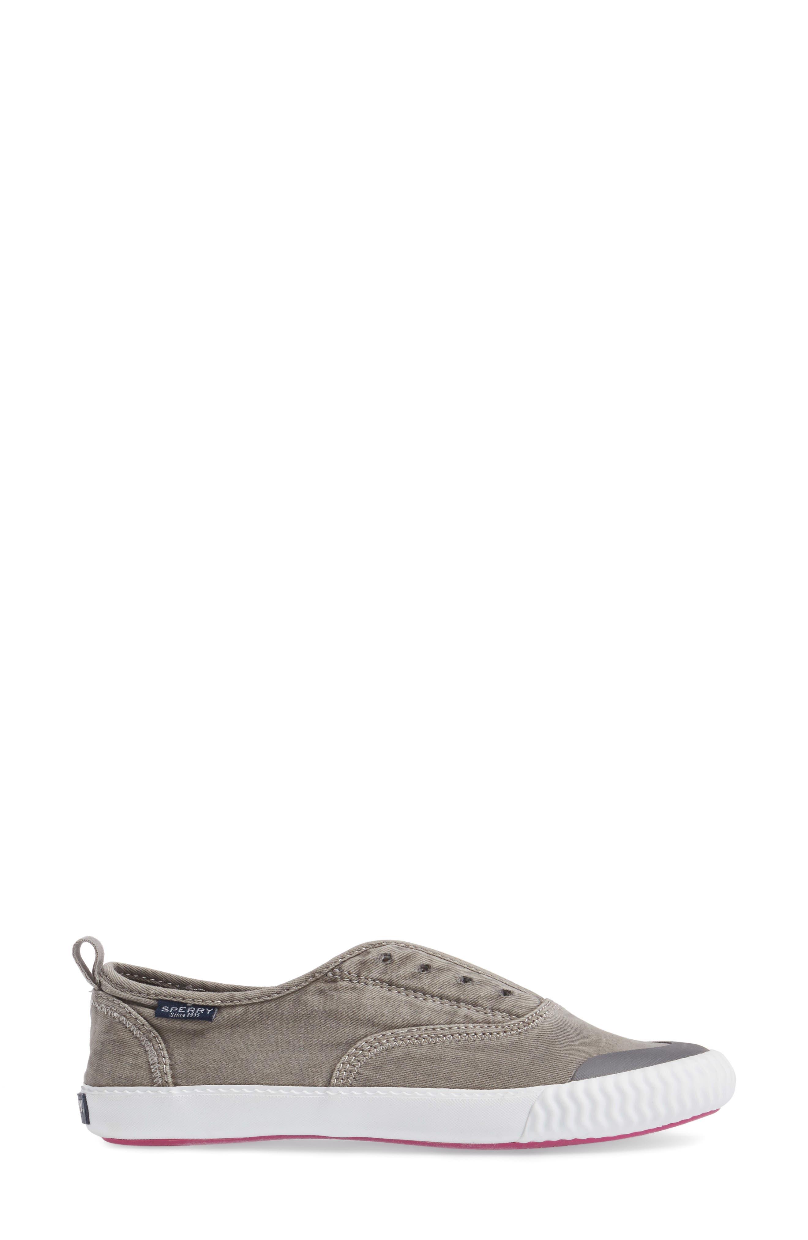 Sayel Slip-On Sneaker,                             Alternate thumbnail 3, color,                             GREY FABRIC