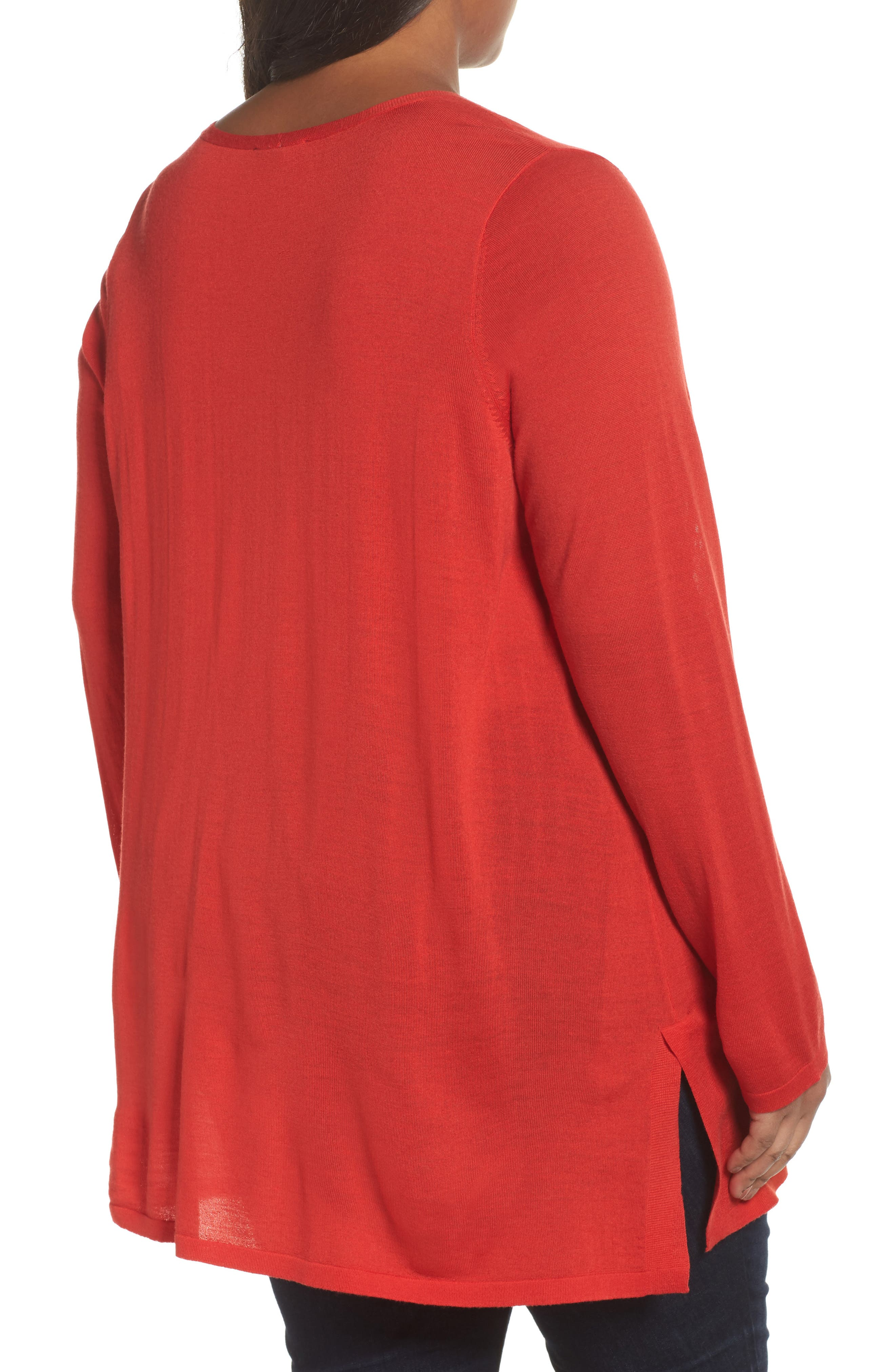 Merino Wool Tunic Sweater,                             Alternate thumbnail 10, color,