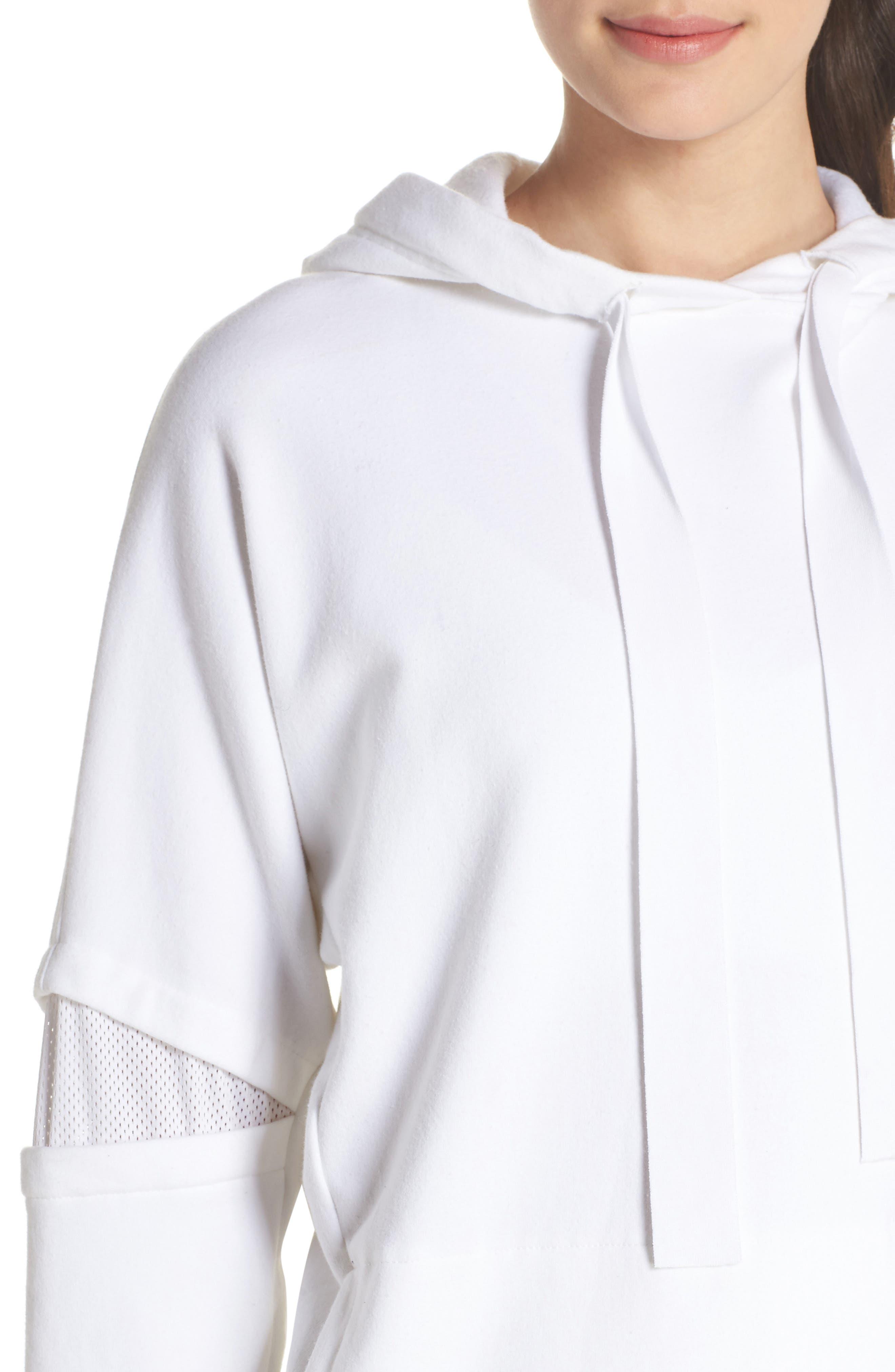 Notch Hoodie Sweatshirt,                             Alternate thumbnail 4, color,                             WHITE