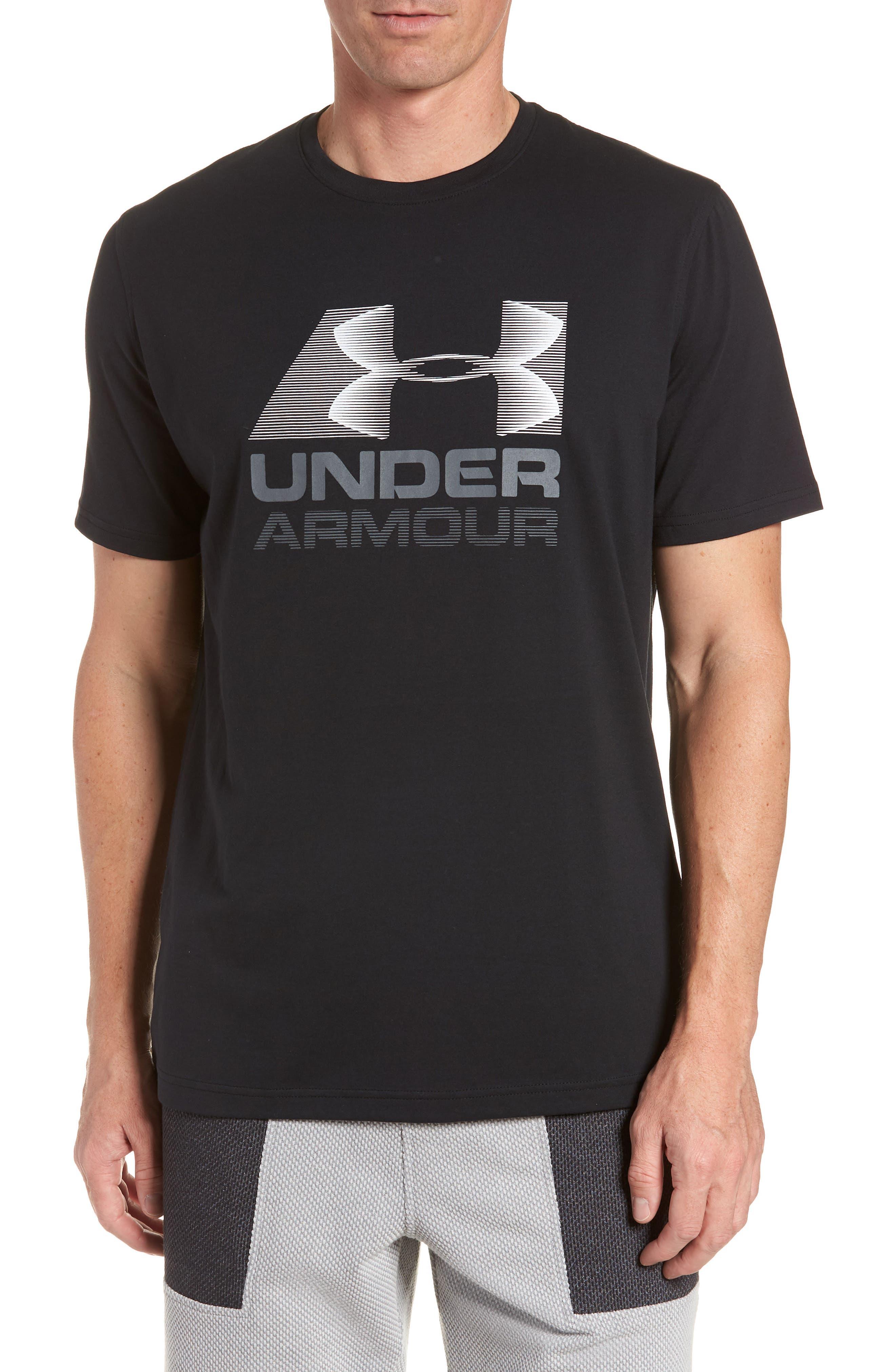 Trim Fit Vanish Logo T-Shirt,                         Main,                         color, BLACK/ WHITE/ GRAPHITE