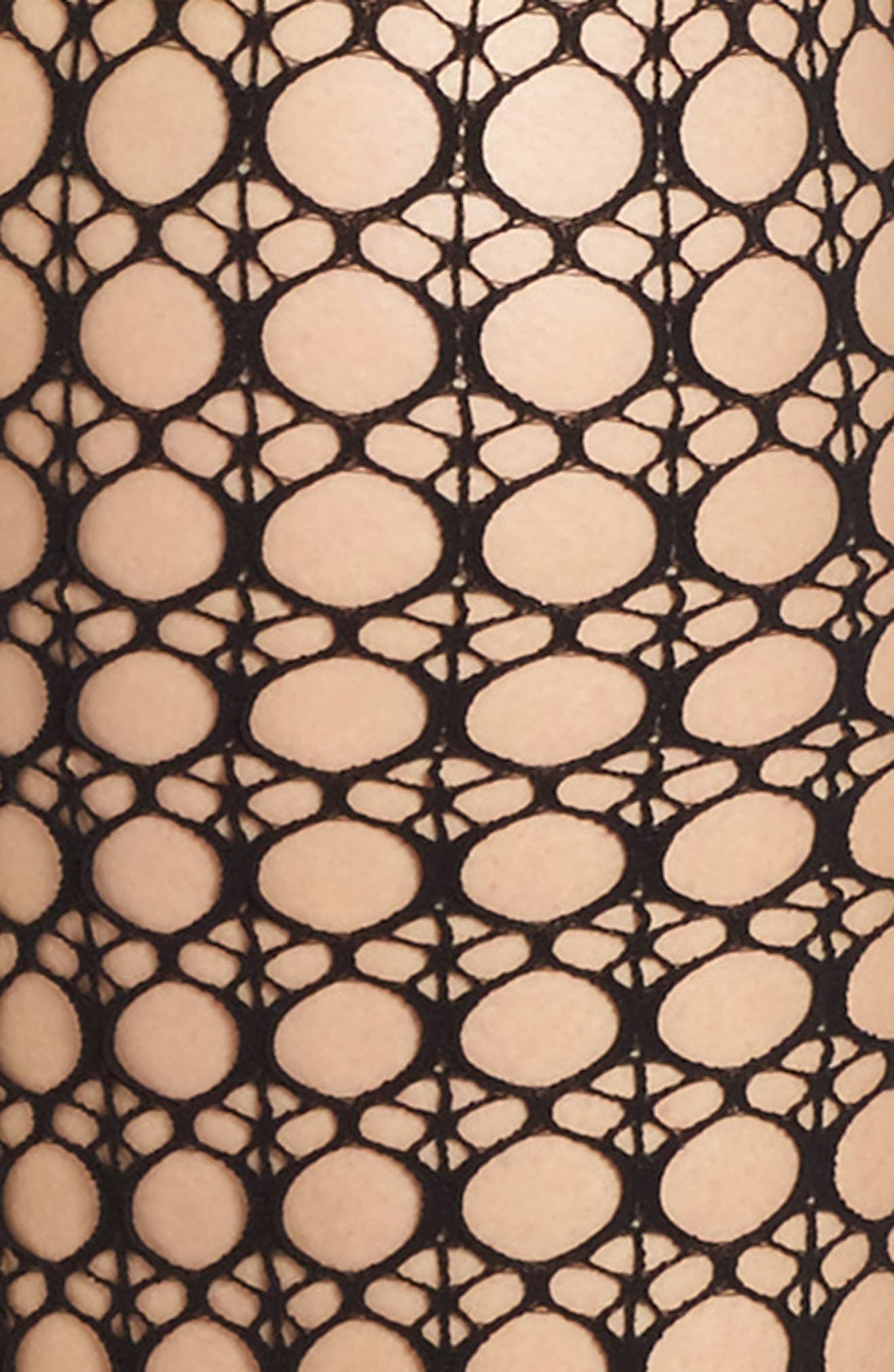 Circle Net Tights,                             Alternate thumbnail 2, color,                             007