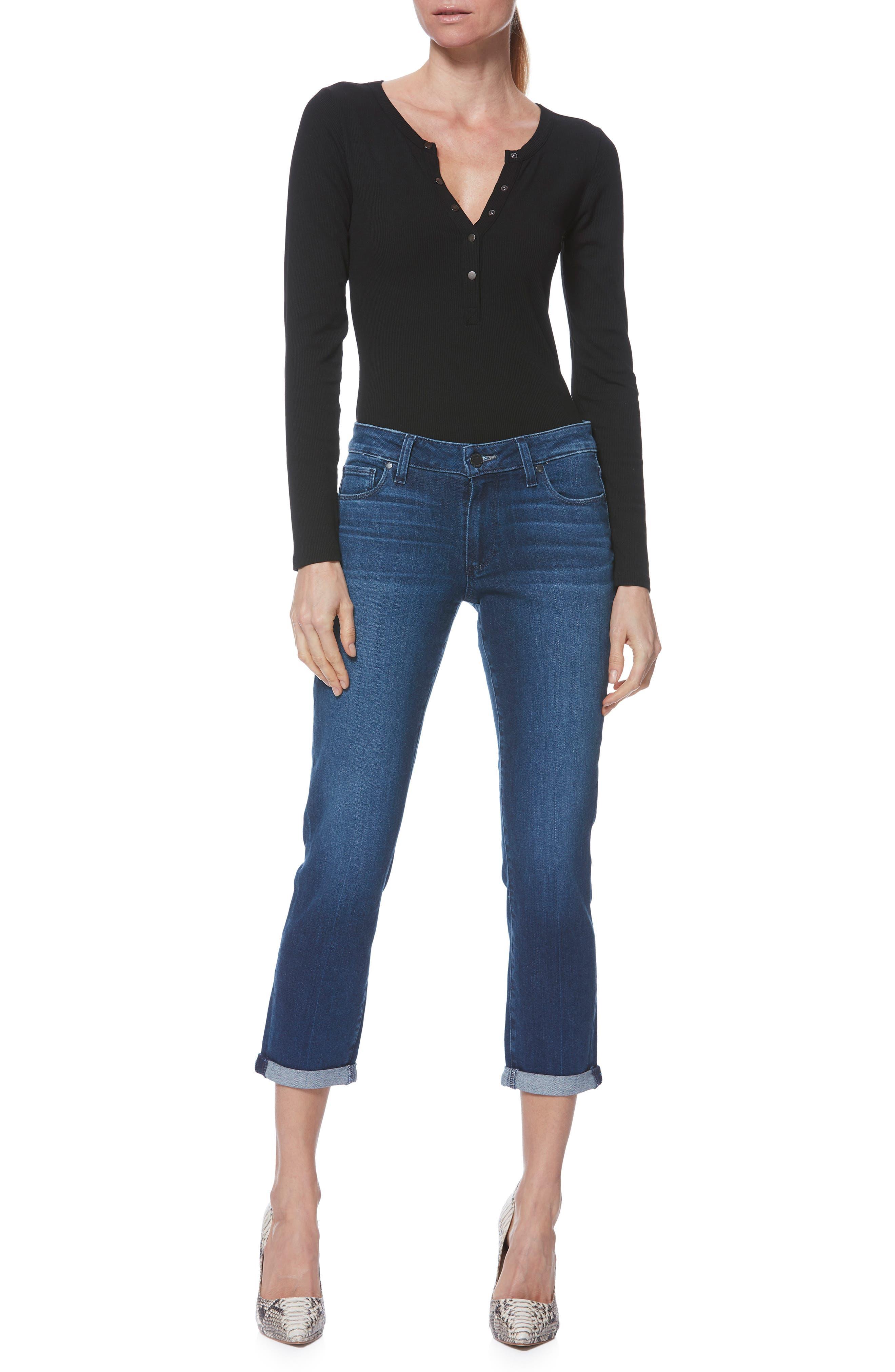 PAIGE,                             Brigitte Crop Boyfriend Jeans,                             Alternate thumbnail 5, color,                             NAPLES